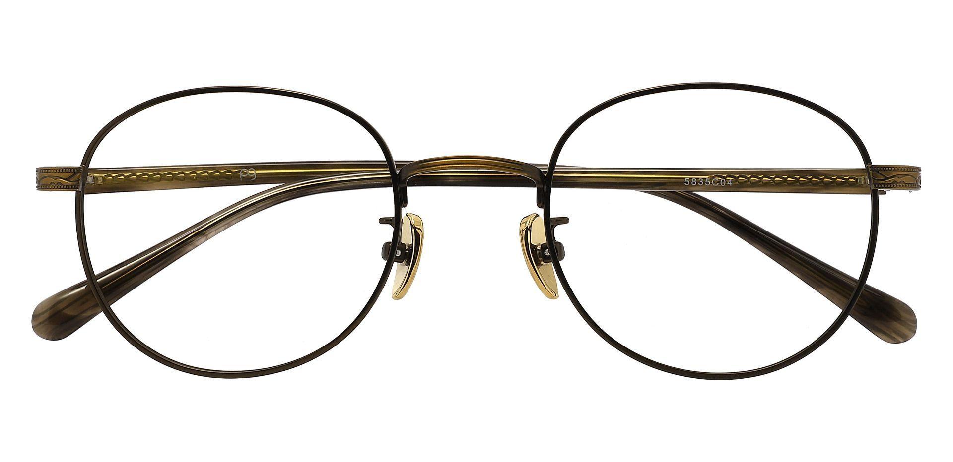 Atkinson Oval Prescription Glasses - Brown