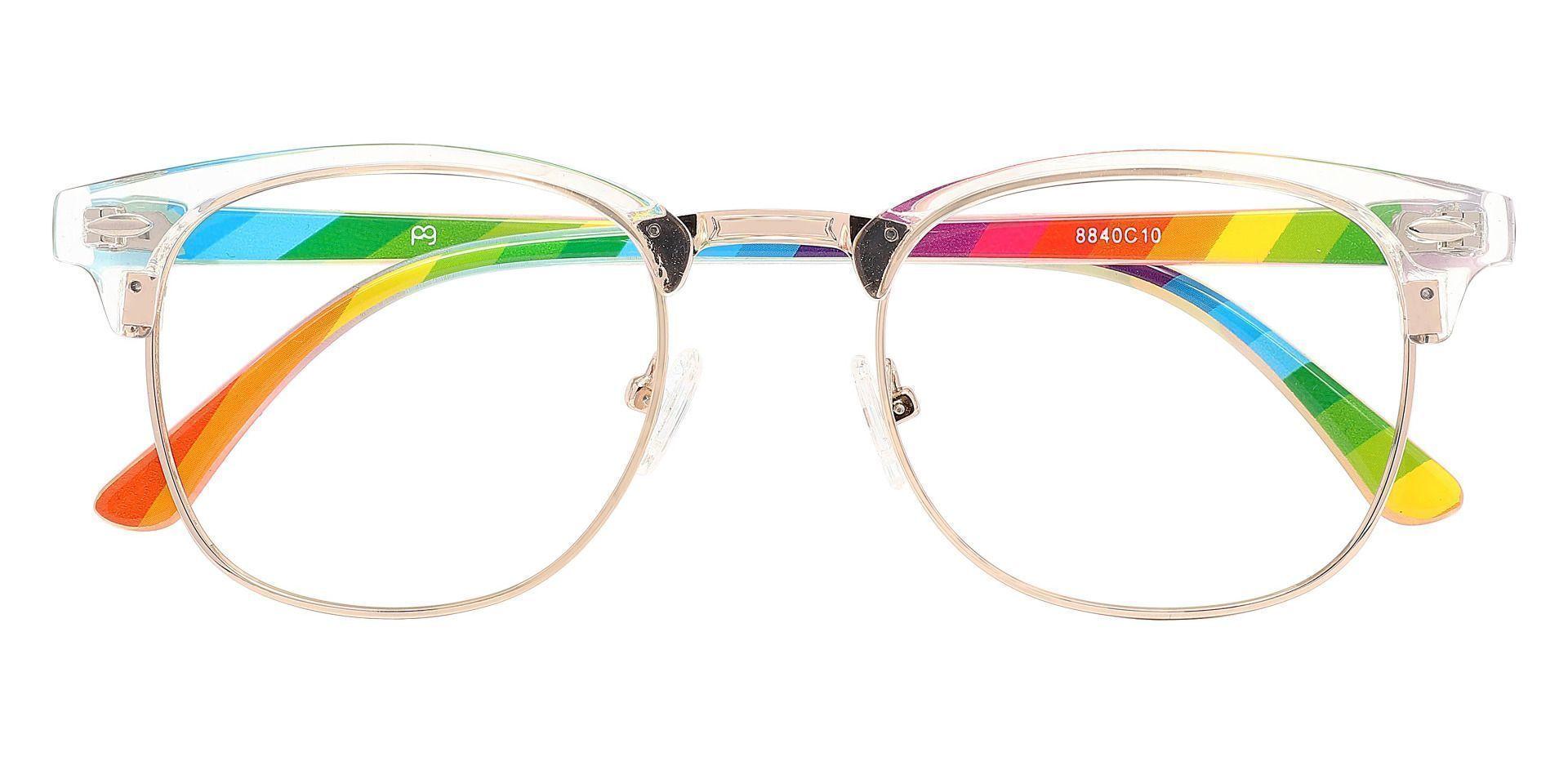 Hartley Browline Prescription Glasses - Clear