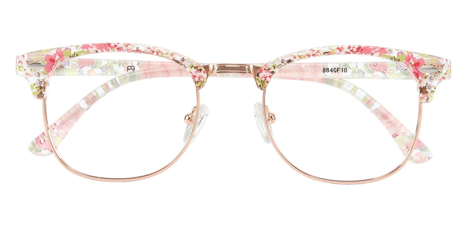 Hartley Browline Prescription Glasses - Floral