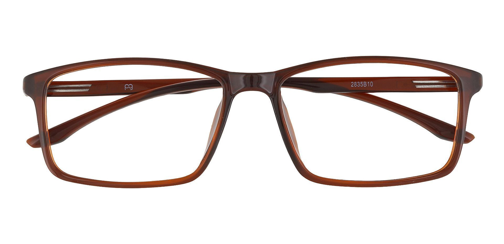 Judah Rectangle Prescription Glasses - Brown