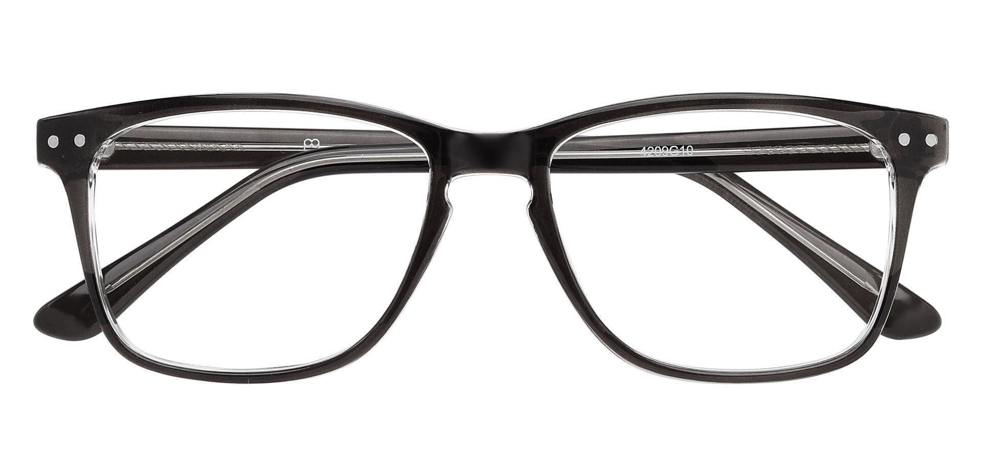 Hope Oval Eyeglasses Frame - Black