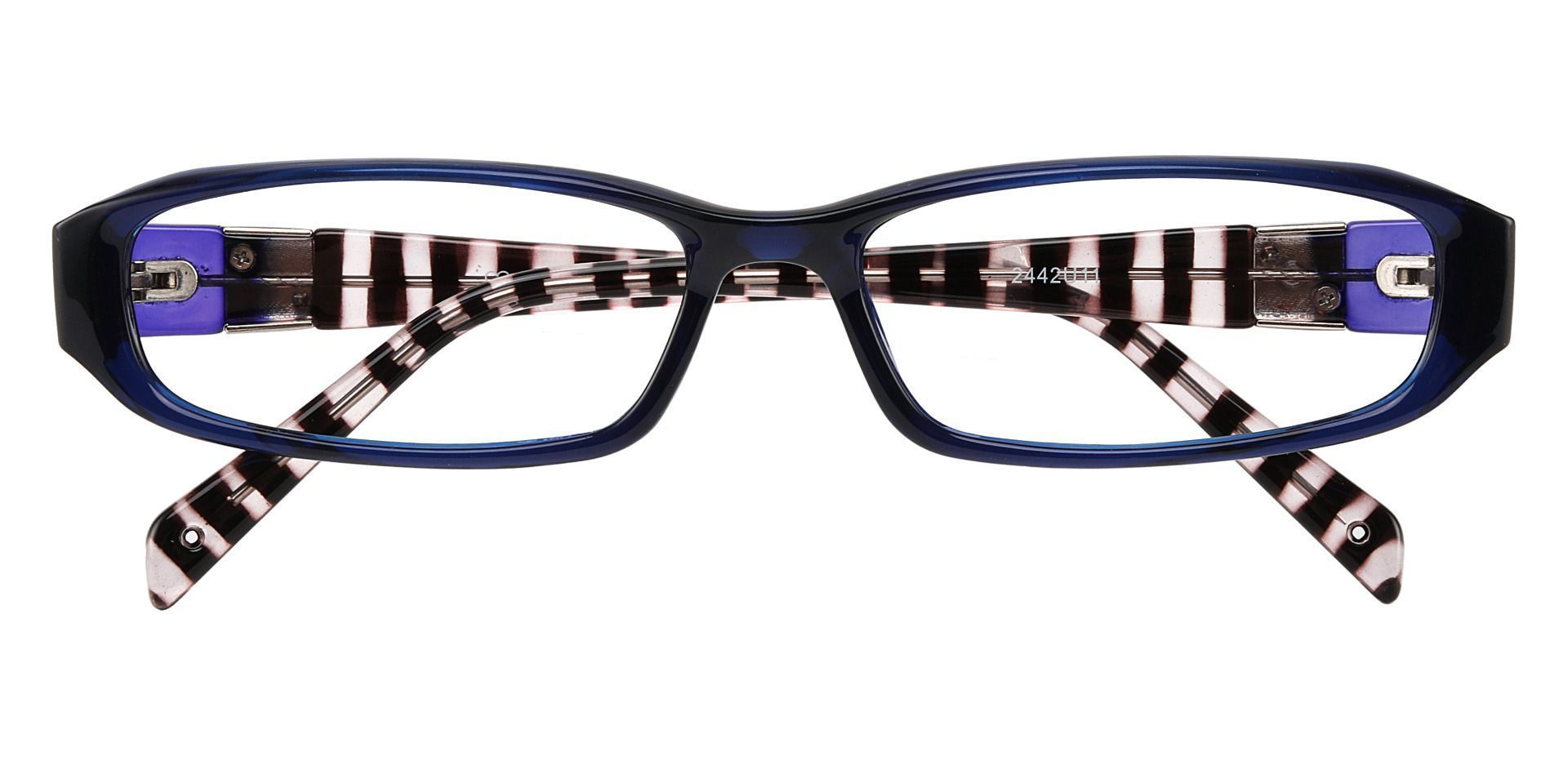 Mulberry Rectangle Single Vision Glasses - Blue