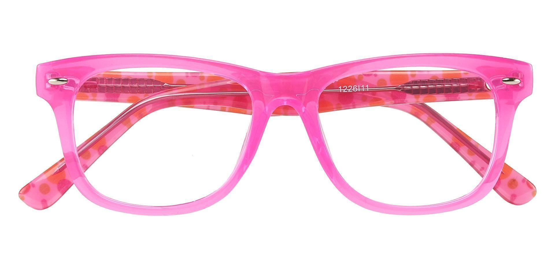 Eureka Square Prescription Glasses - Pink