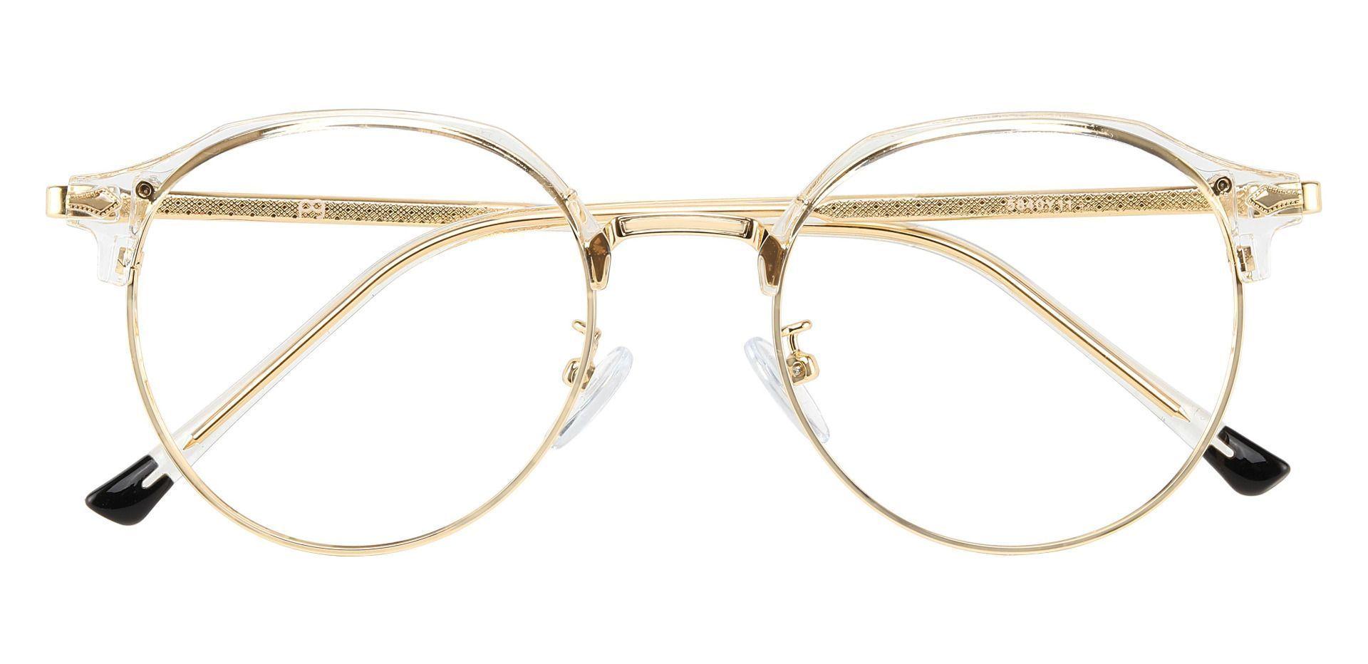 Nutmeg Browline Prescription Glasses - Clear