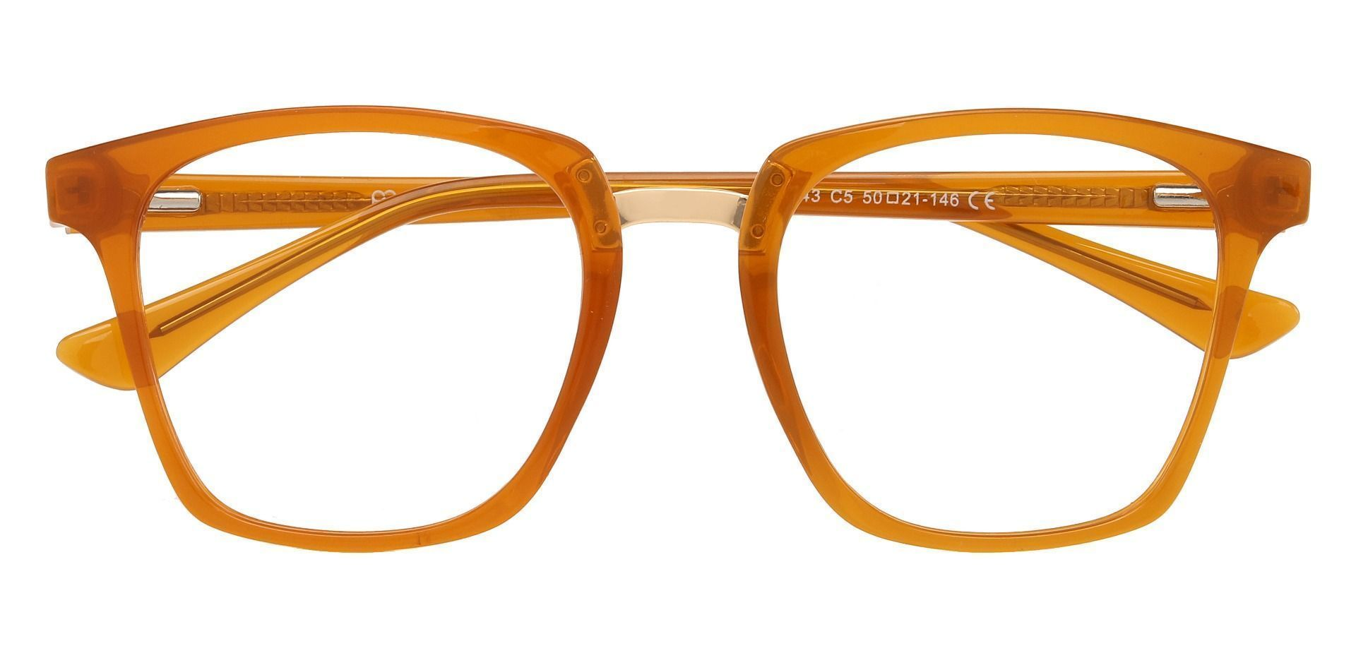 Delta Square Prescription Glasses - Orange