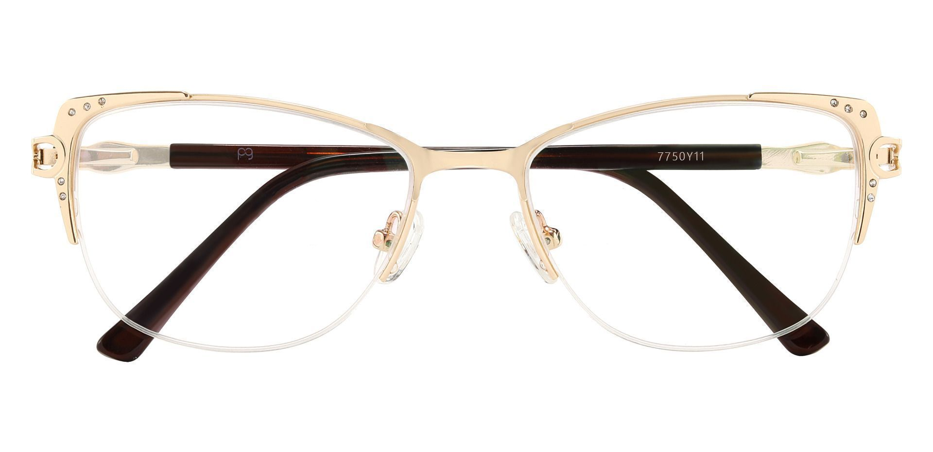 Granger Cat Eye Prescription Glasses - Gold