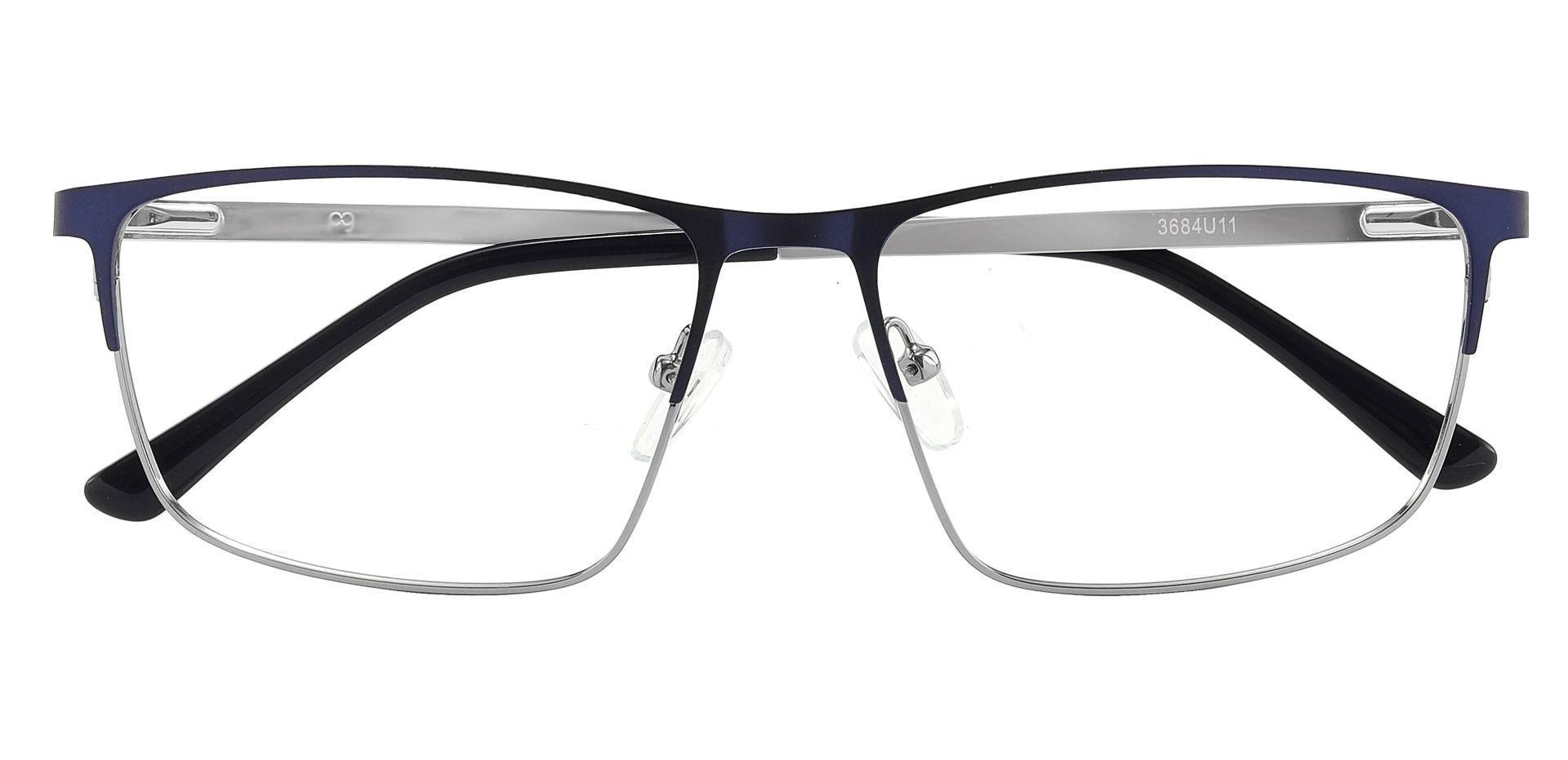 Hamlet Browline Prescription Glasses - Blue