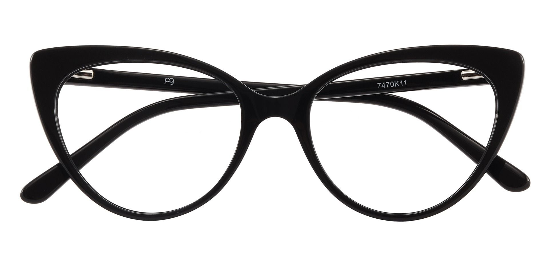 Bristol Cat Eye Prescription Glasses - Black