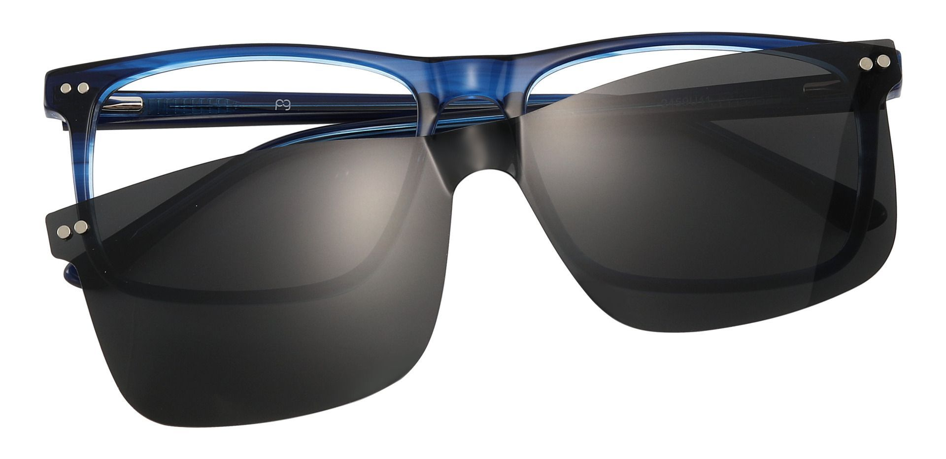 Carlton Rectangle Prescription Glasses - Blue