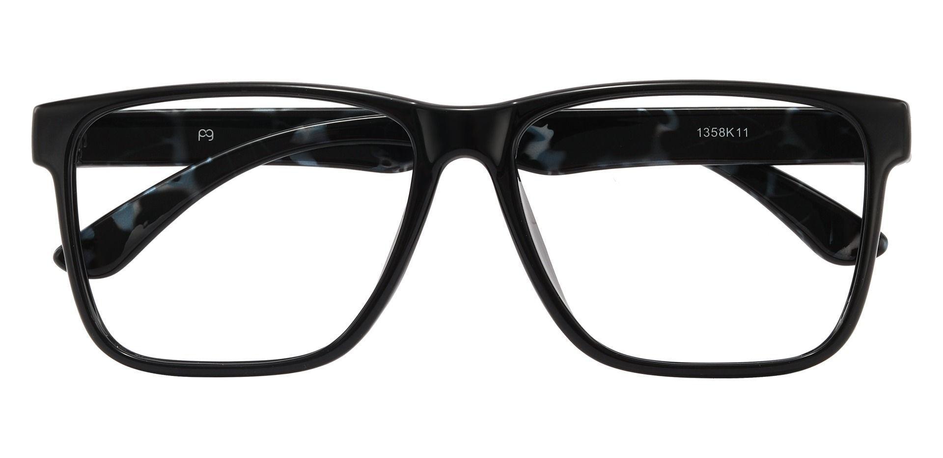 Barnum Square Prescription Glasses - Black