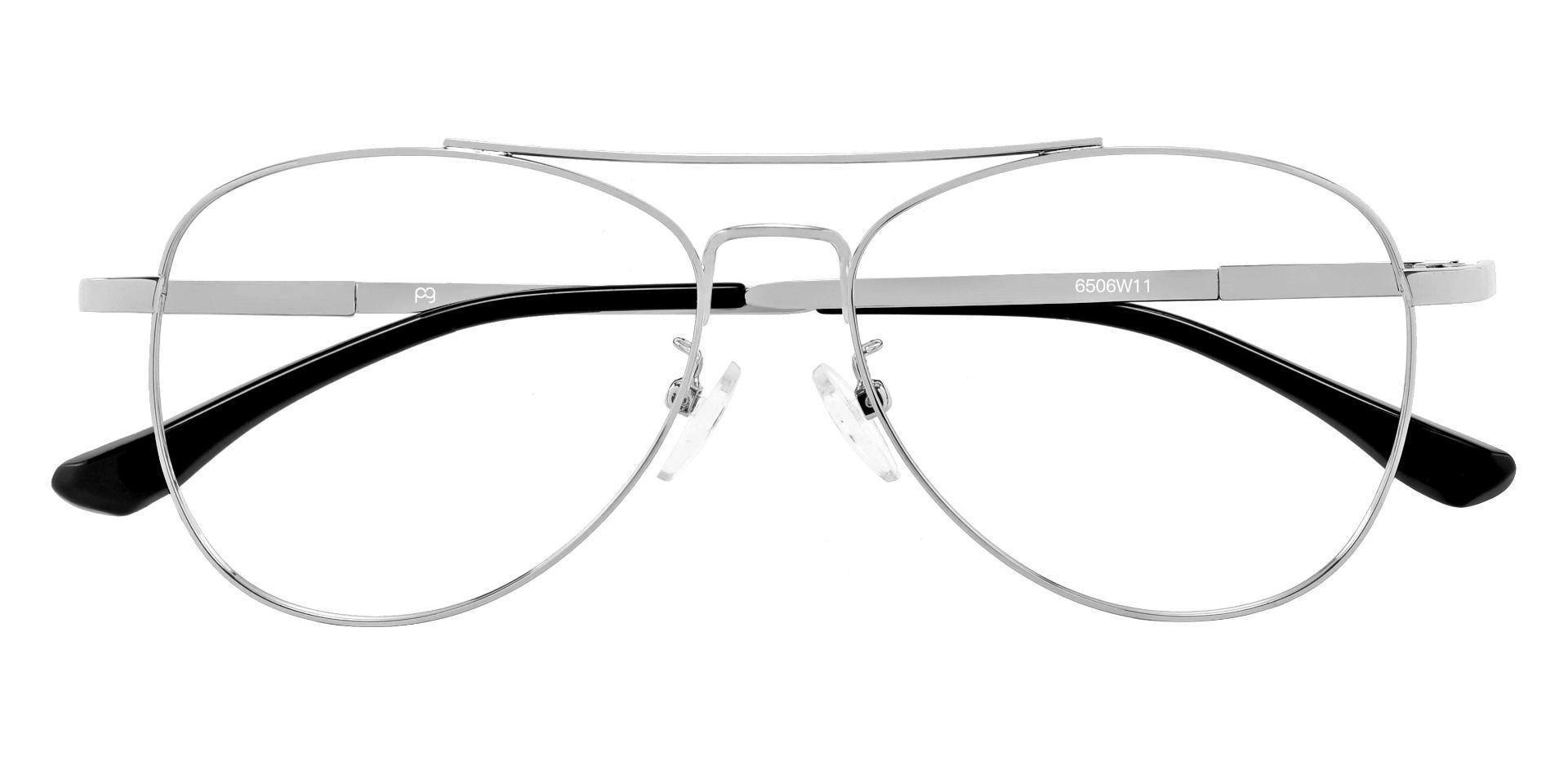 Sterling Aviator Prescription Glasses - Silver