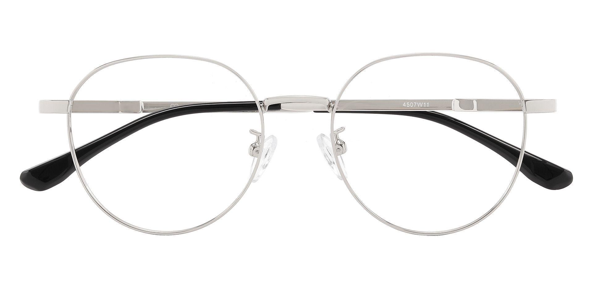 Melrose Oval Prescription Glasses - Silver