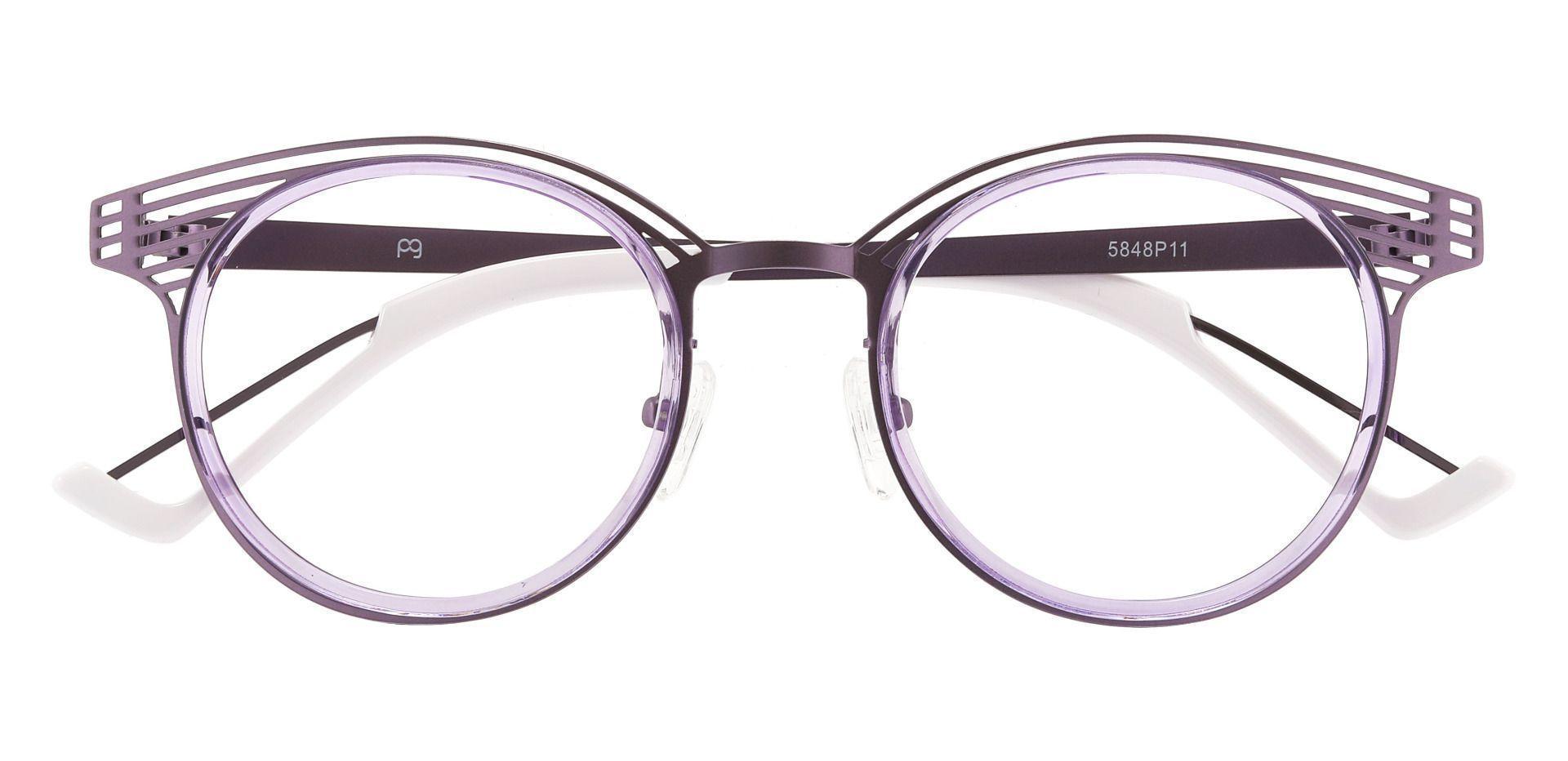 Waverly Round Prescription Glasses - Purple