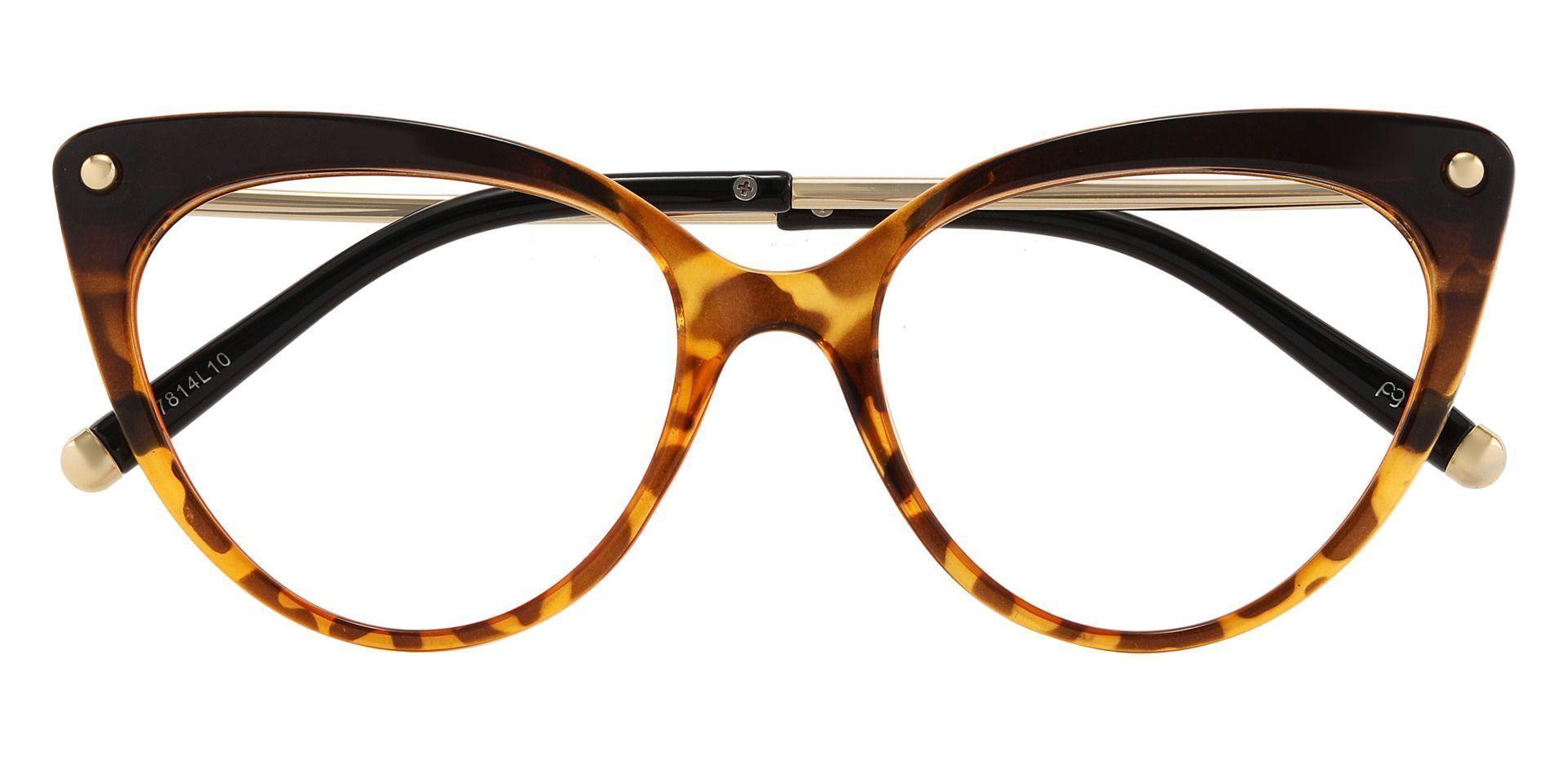 Connie Cat Eye Prescription Glasses - Leopard