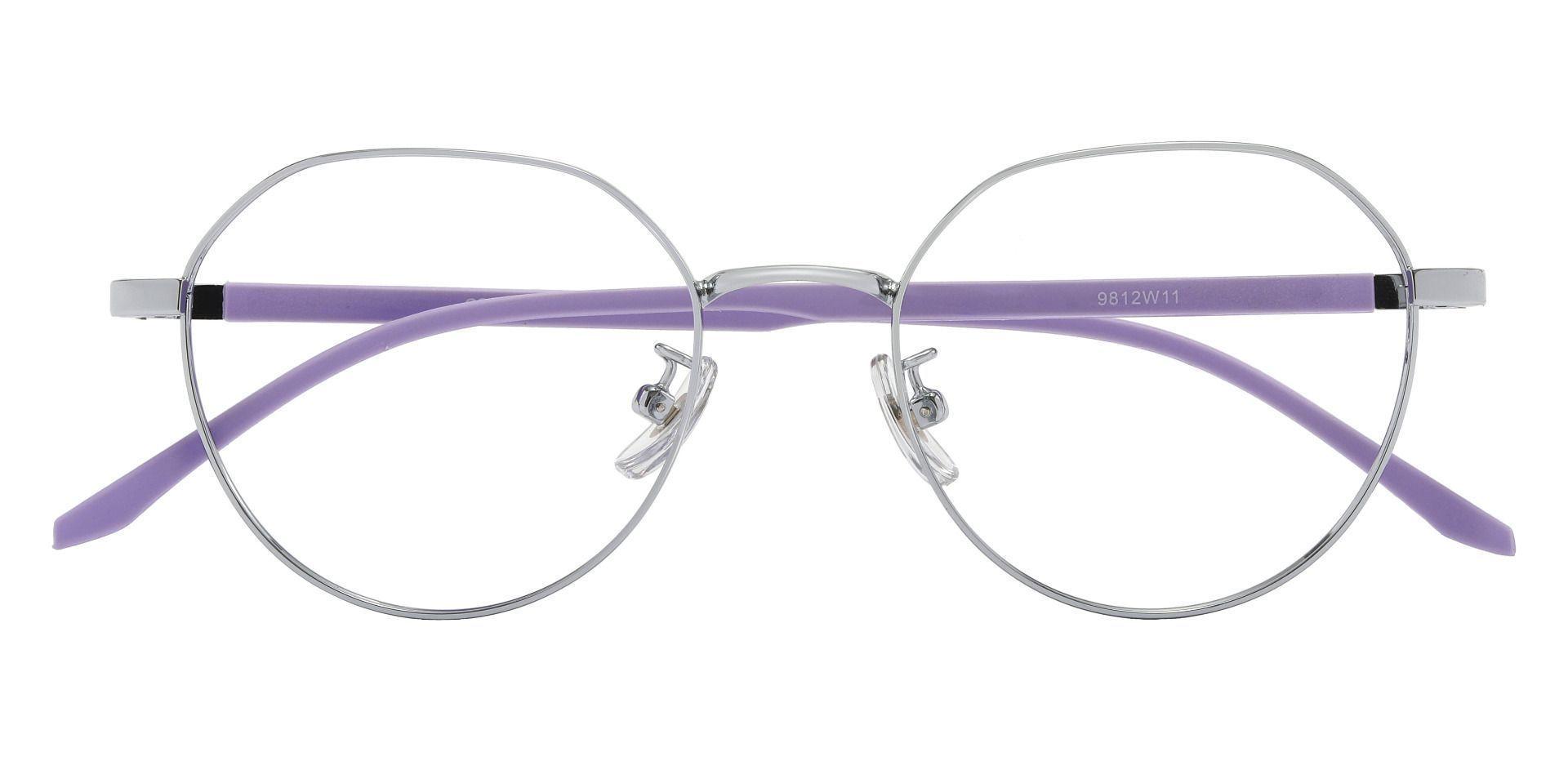Beatrice Geometric Prescription Glasses - Silver