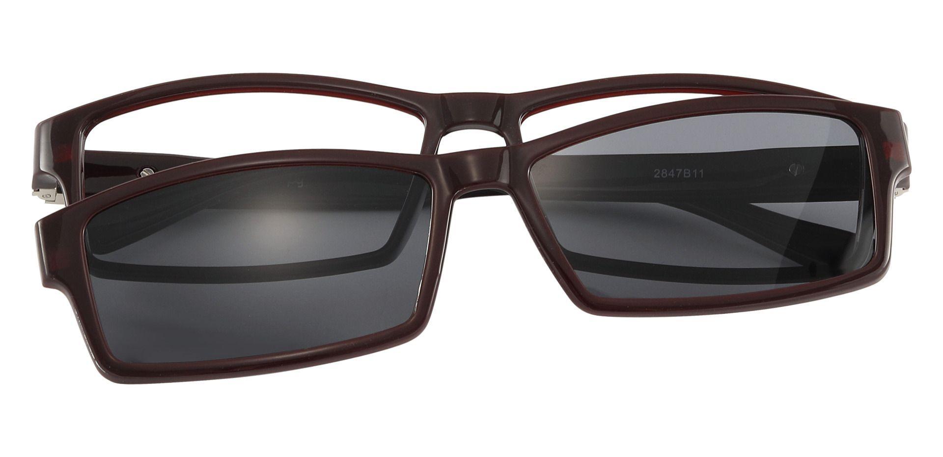Dublin Rectangle Prescription Glasses - Brown