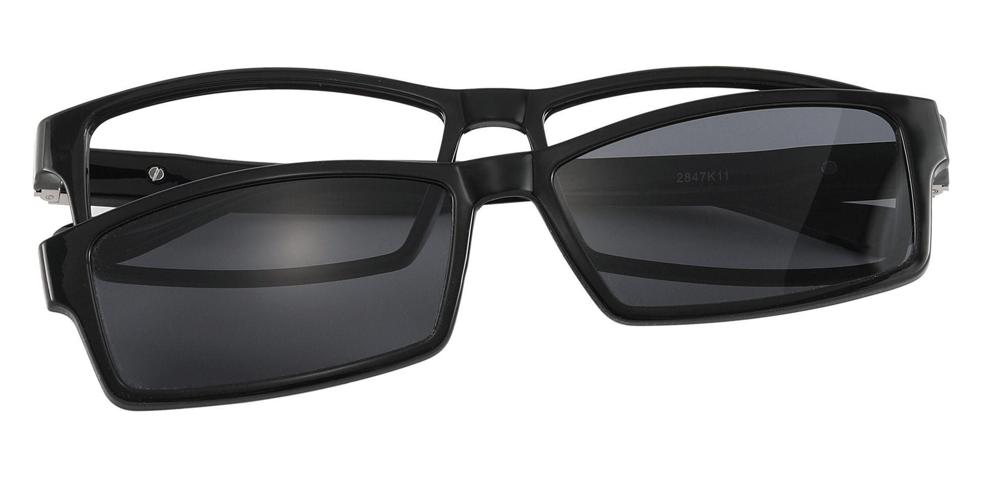 Dublin Rectangle Prescription Glasses - Black