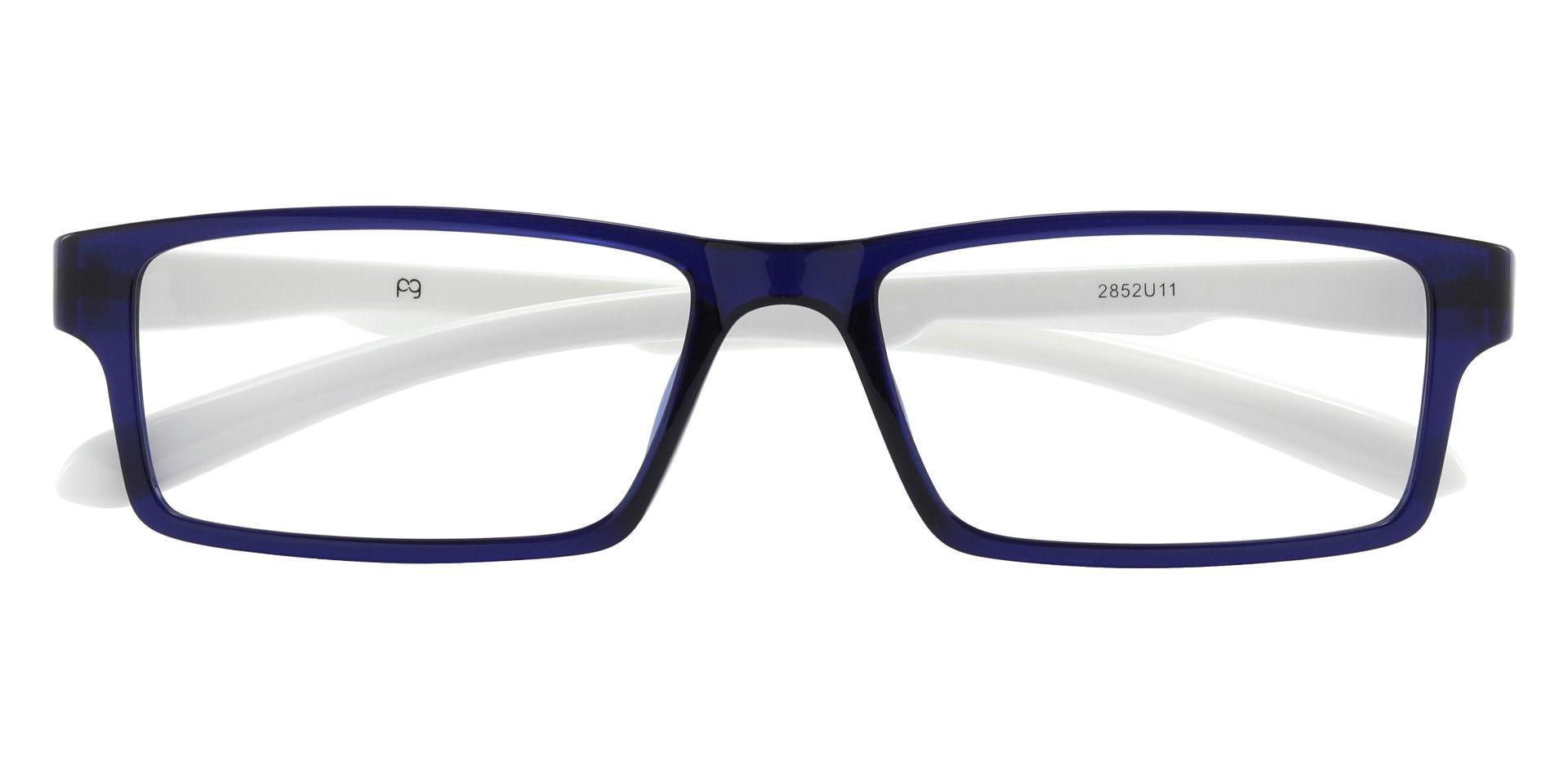 Walsh Rectangle Prescription Glasses - Blue