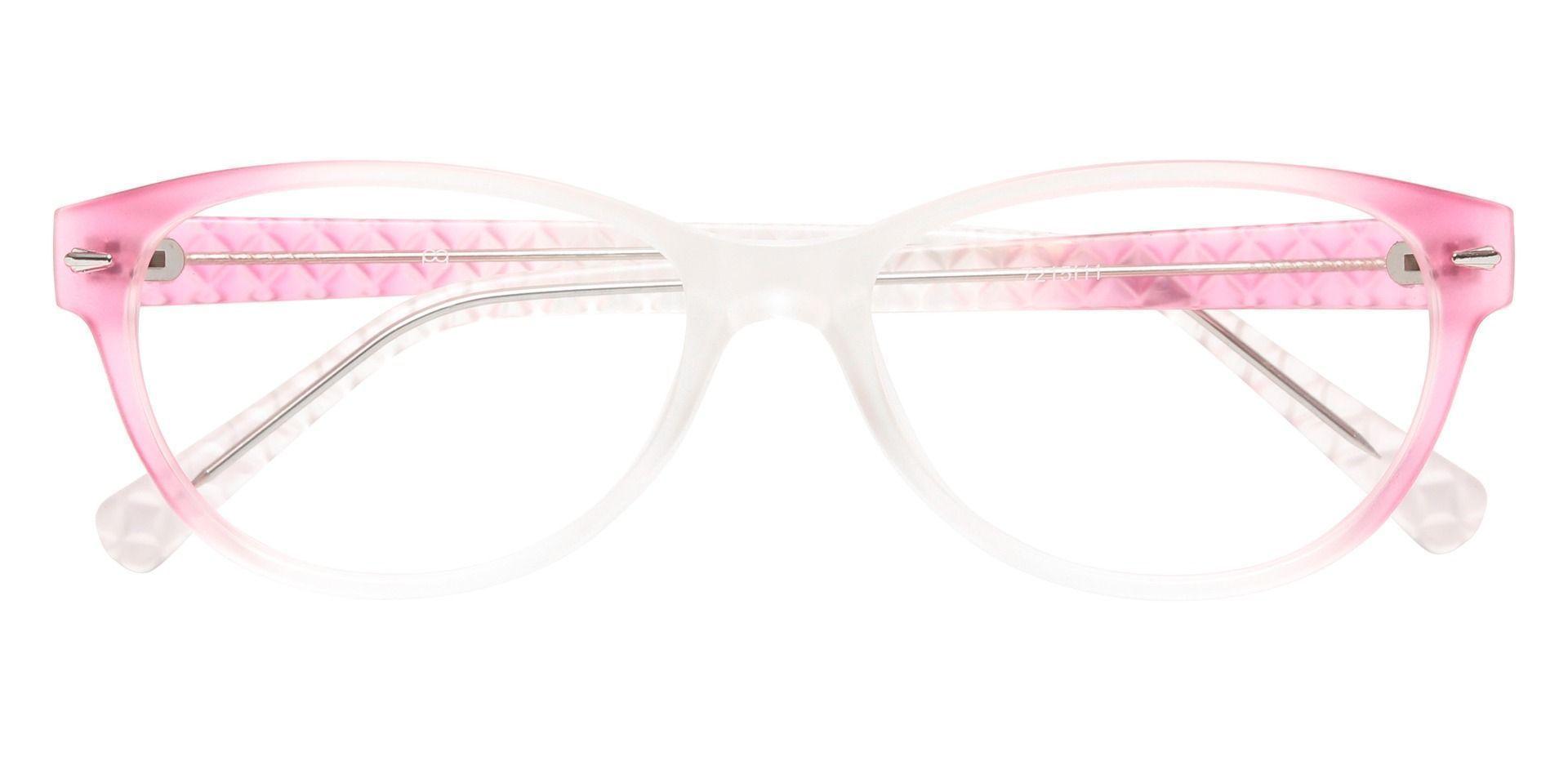 Olive Cat Eye Prescription Glasses - Pink