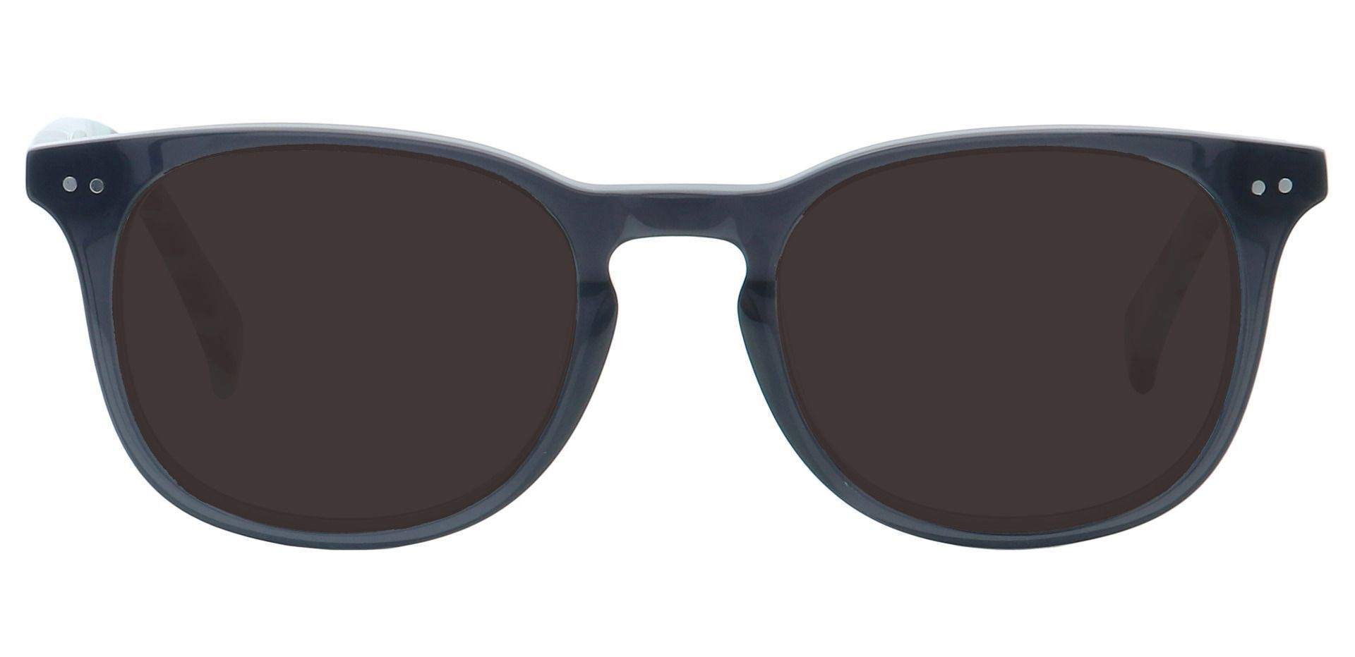 Marble Oval Prescription Sunglasses - Gray Frame With Gray Lenses