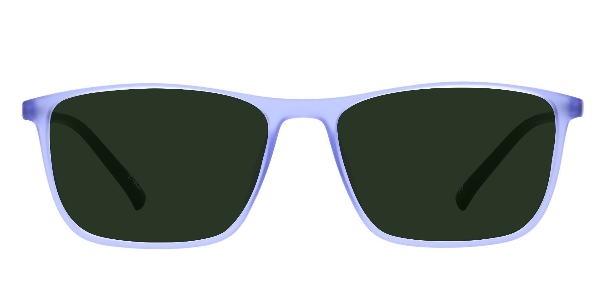 Candid Rectangle Prescription Sunglasses - Blue Frame With Green Lenses
