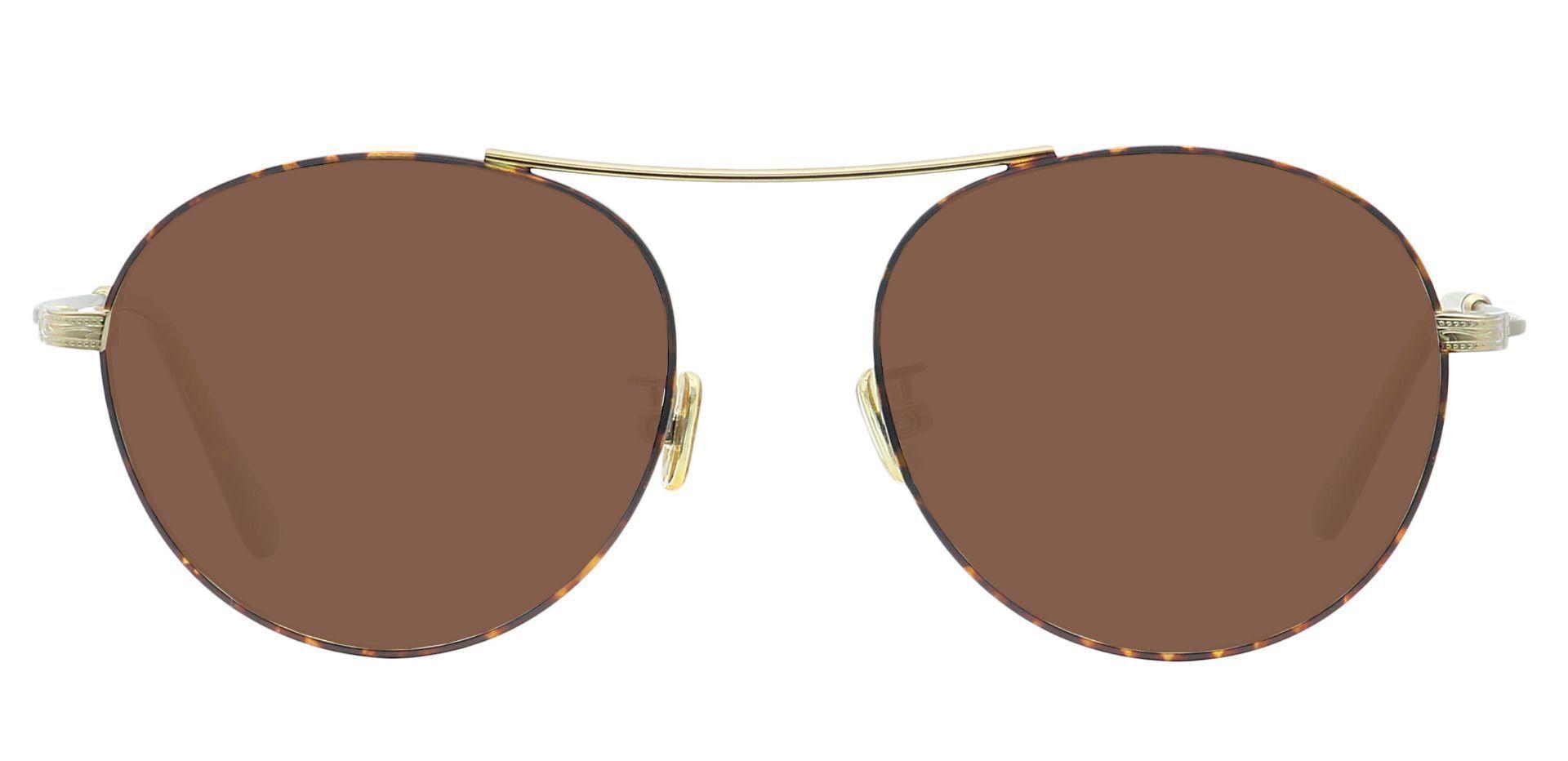 Finn Round Prescription Sunglasses - Yellow Frame With Brown Lenses