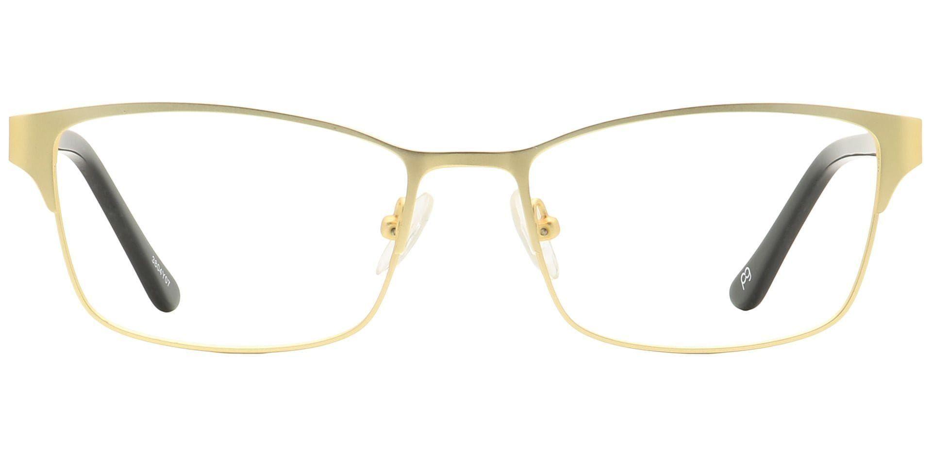 Leo Rectangle Blue Light Blocking Glasses - Yellow