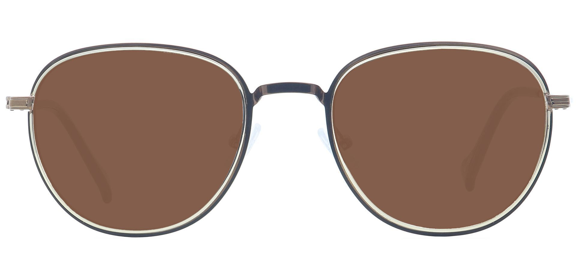 Foster Oval Prescription Sunglasses - Brown Frame With Brown Lenses