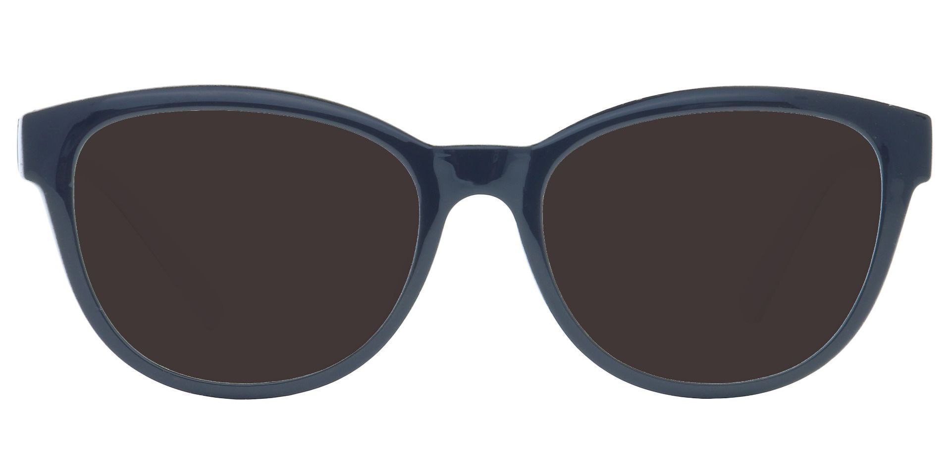 Amore Cat-Eye Prescription Sunglasses - Black Frame With Gray Lenses