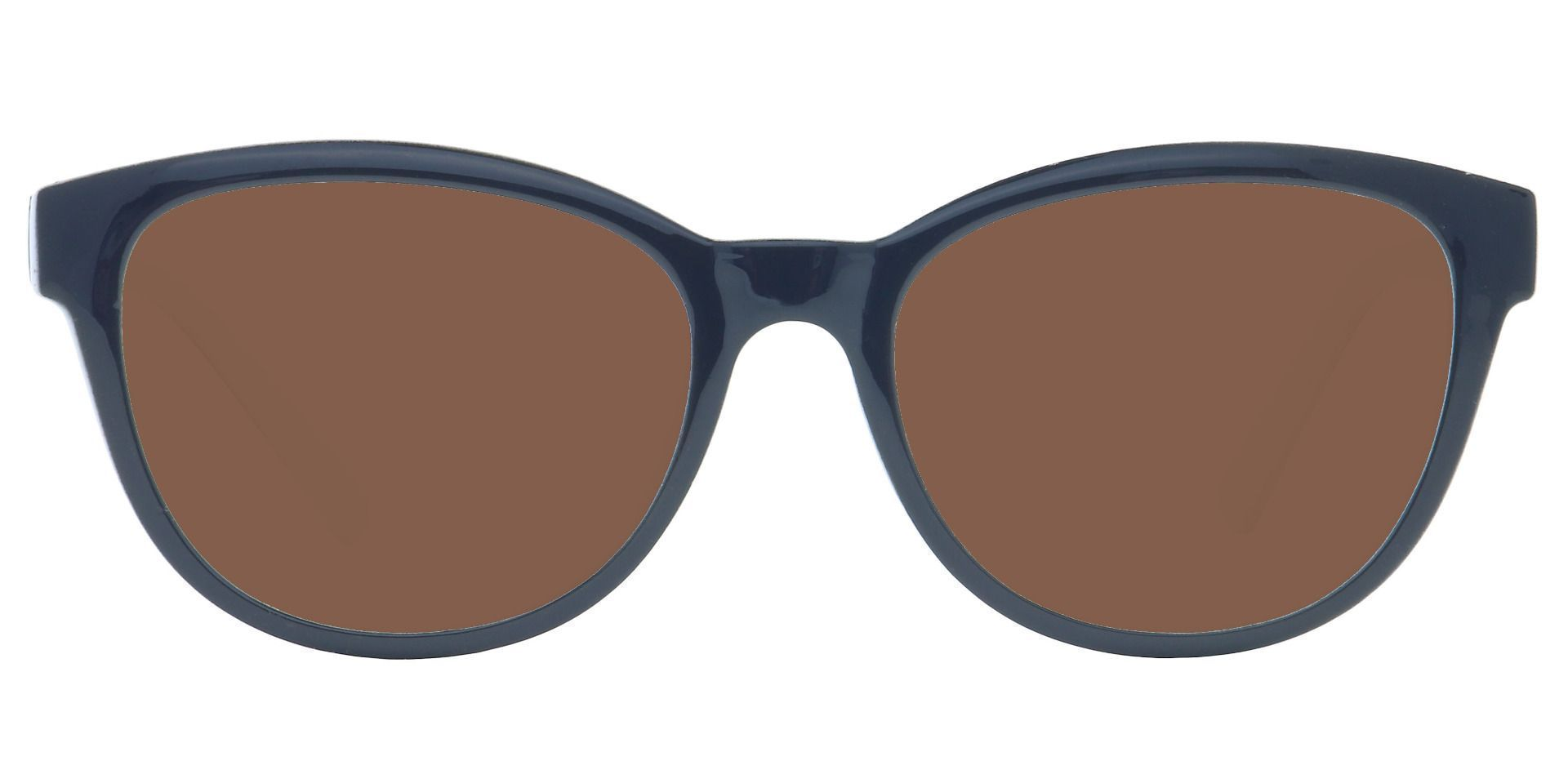 Amore Cat-Eye Prescription Sunglasses - Black Frame With Brown Lenses