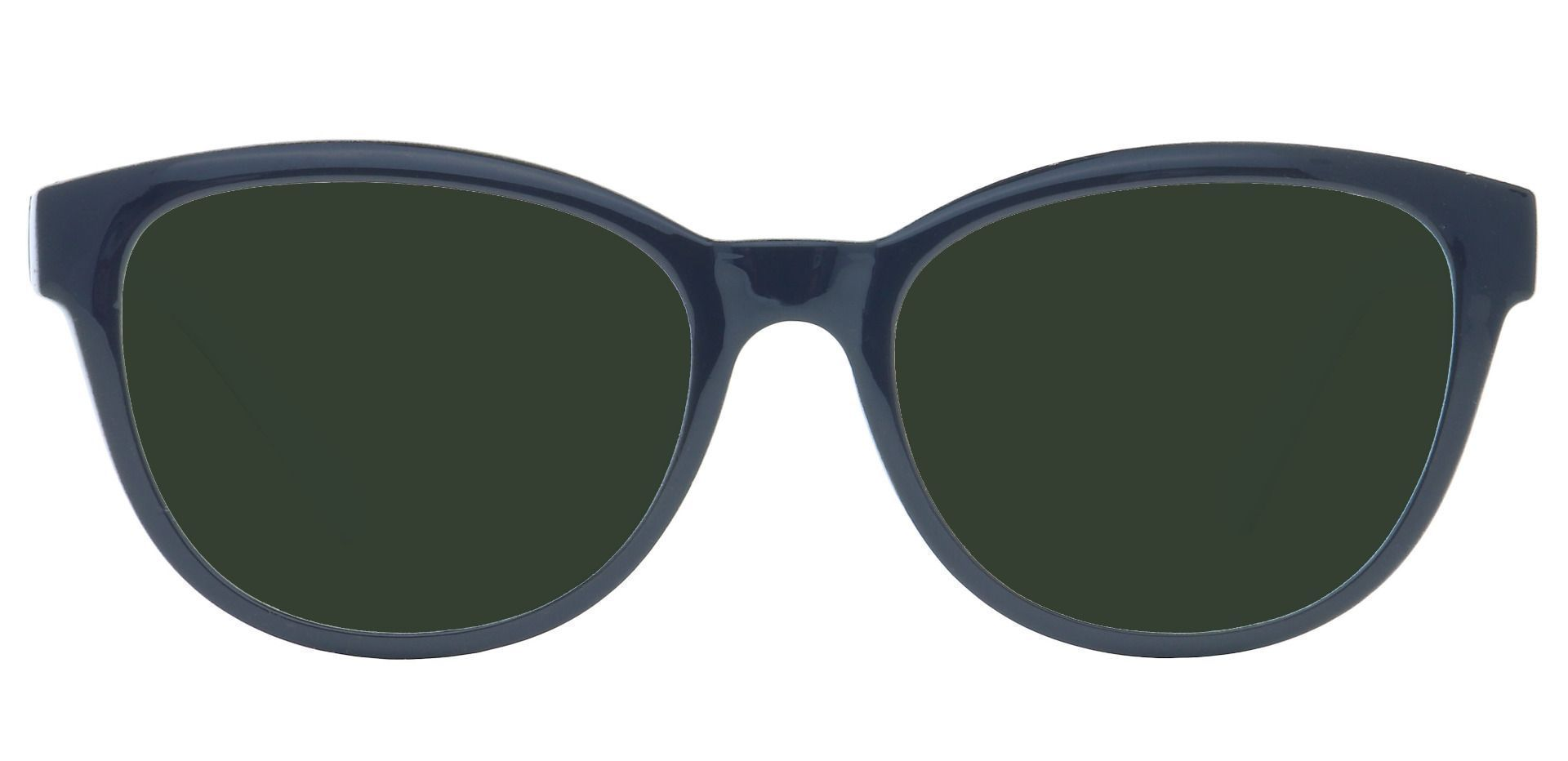 Amore Cat-Eye Prescription Sunglasses - Black Frame With Green Lenses