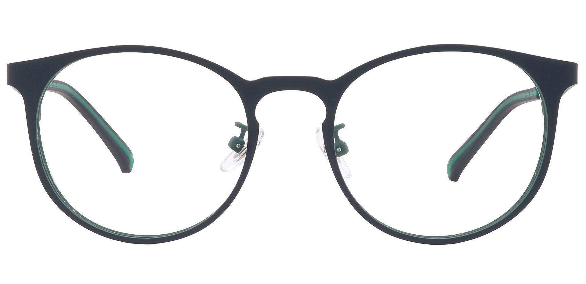 Wallace Oval Prescription Glasses - Green