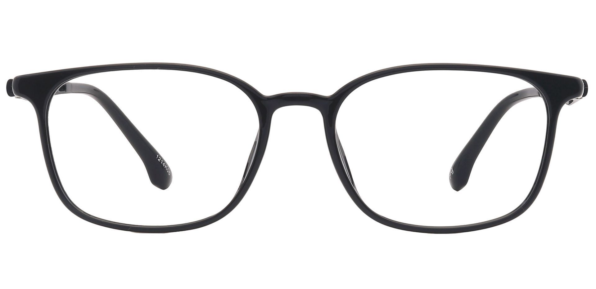 Plateau Oval Prescription Glasses - Black