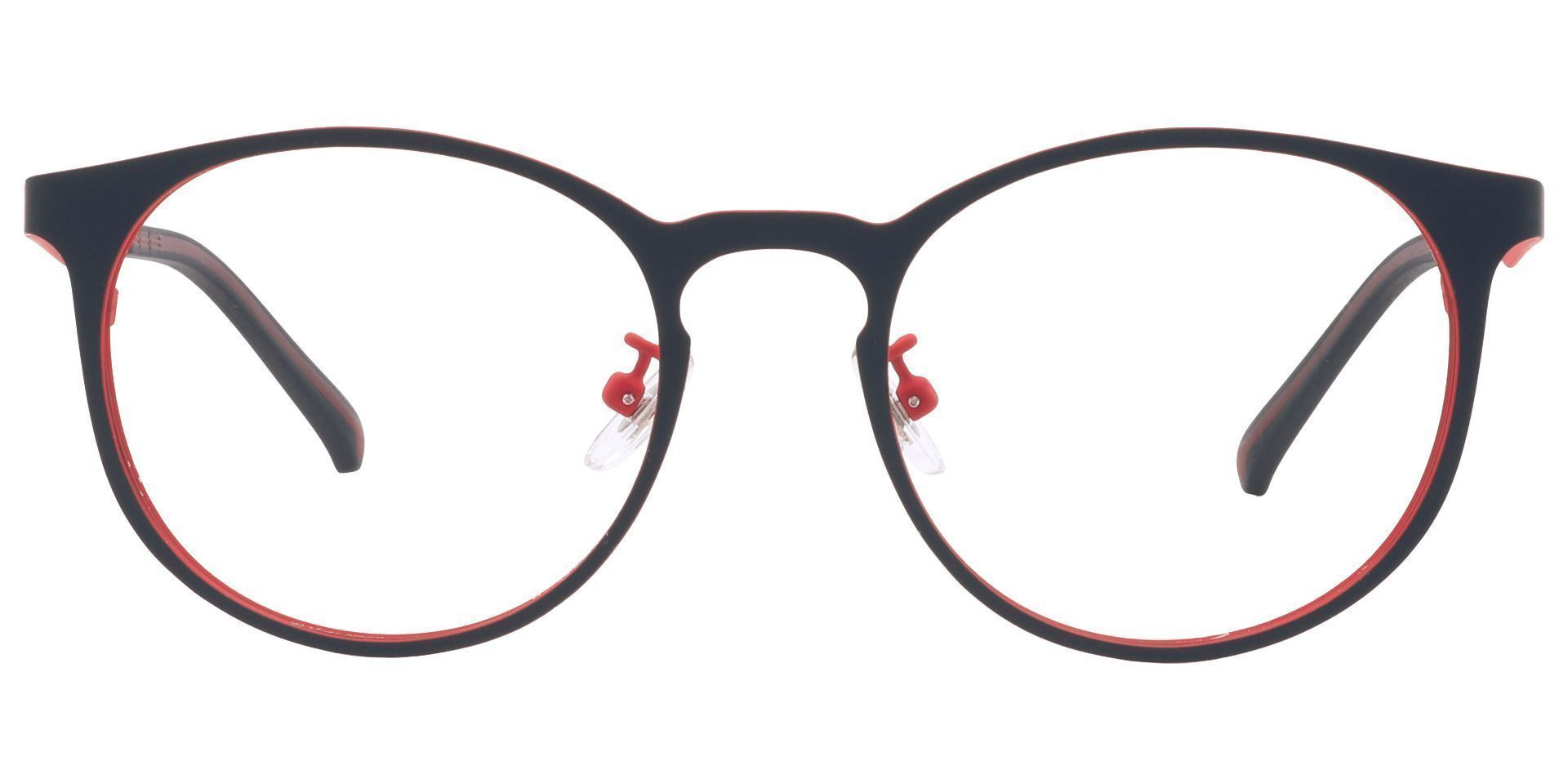Wallace Oval Lined Bifocal Glasses - Red