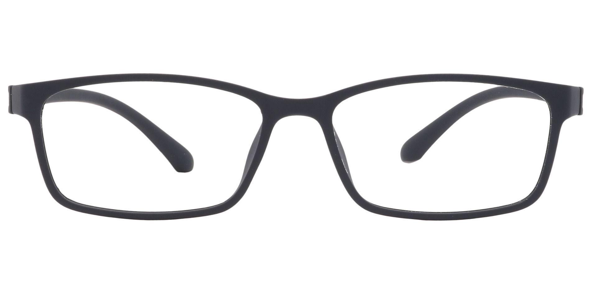 Wichita Rectangle Prescription Glasses -  Matte Black