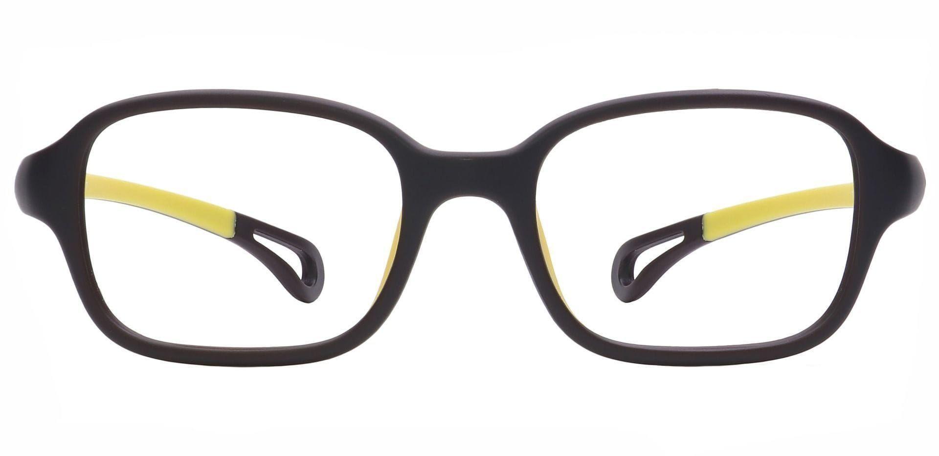 City Rectangle Eyeglasses Frame - Black