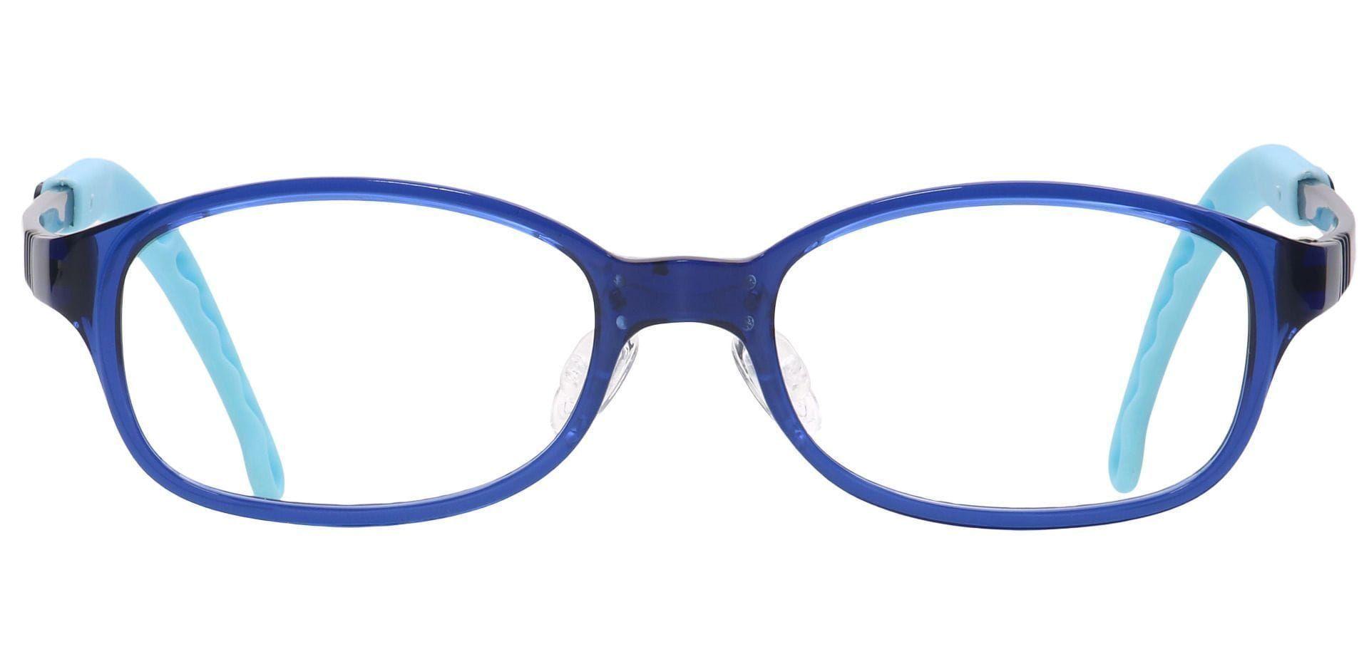 Dainty Rectangle Prescription Glasses - Blue