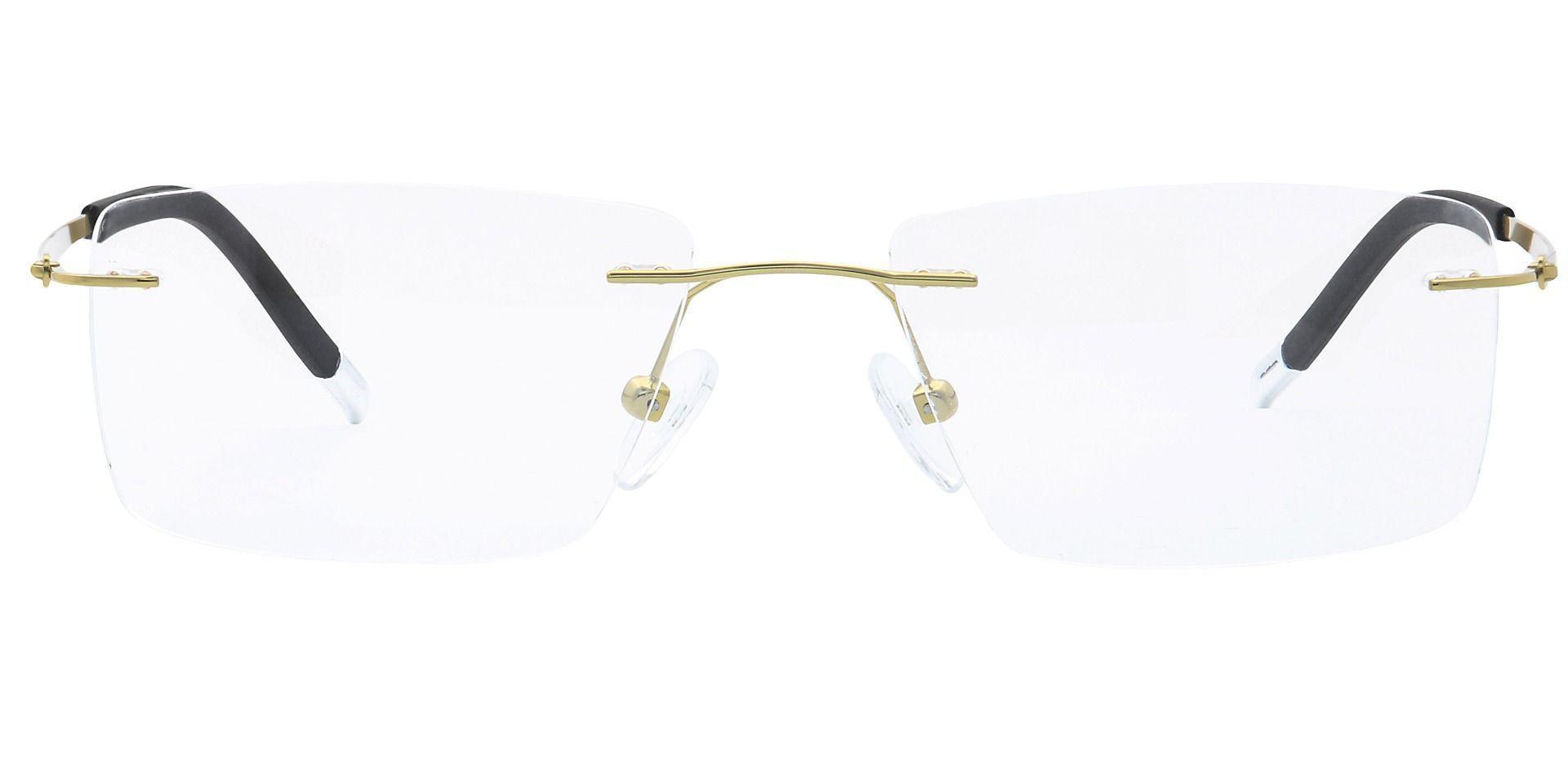 Justice Rimless Prescription Glasses - Yellow