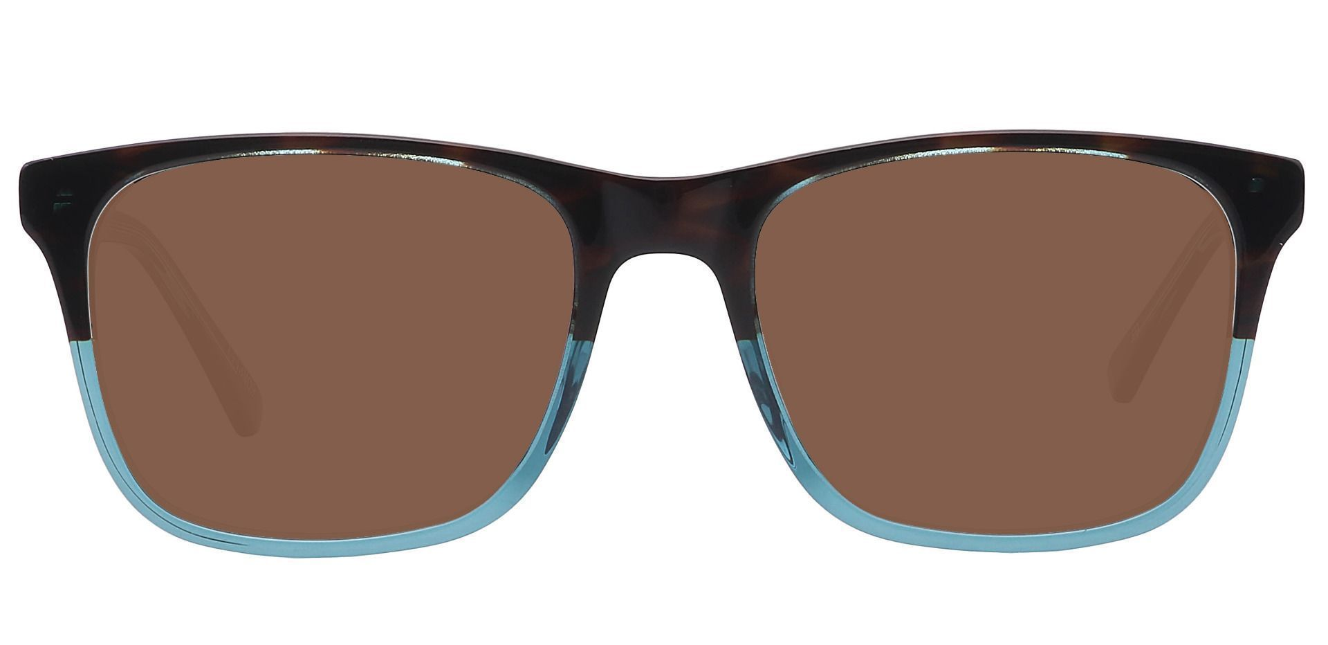 Cantina Square Lined Bifocal Sunglasses - Multi Color Frame With Brown Lenses