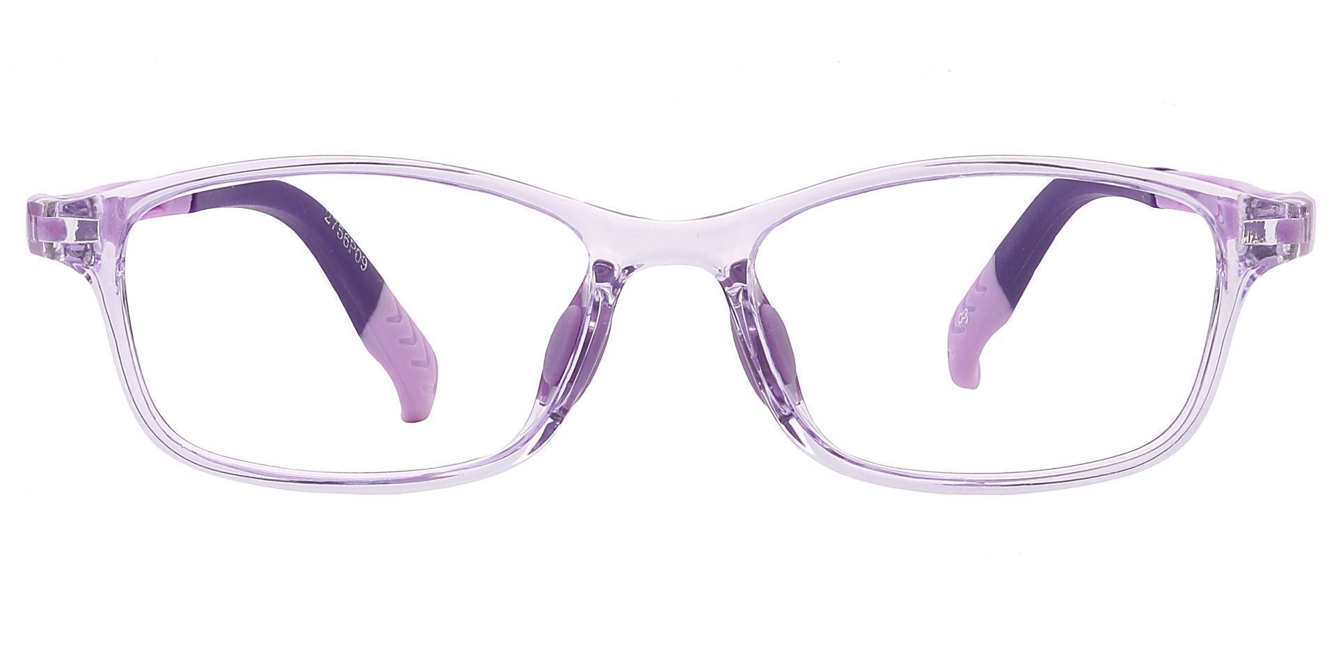 Taj Rectangle Prescription Glasses - Purple