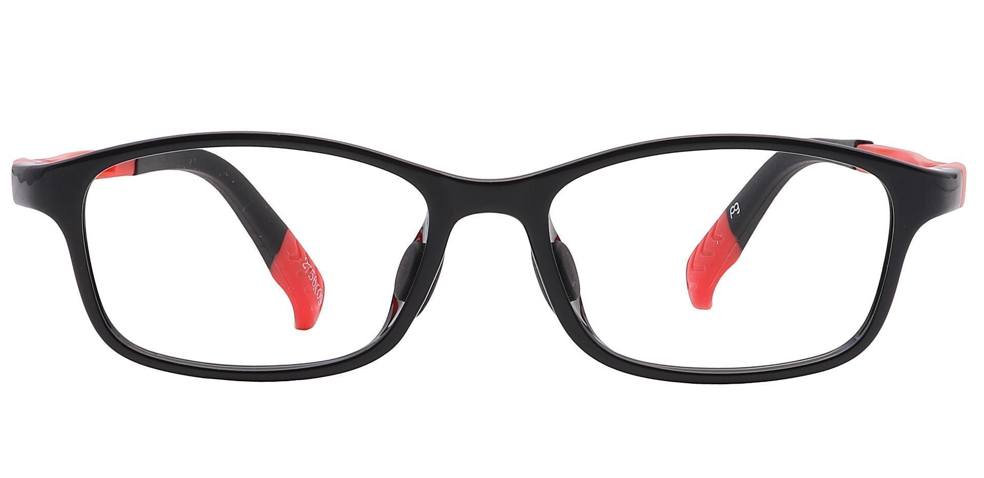 Taj Rectangle Prescription Glasses - Black
