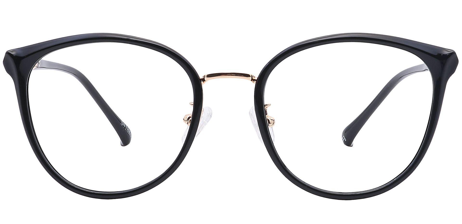 Michelle Round Prescription Glasses - Black