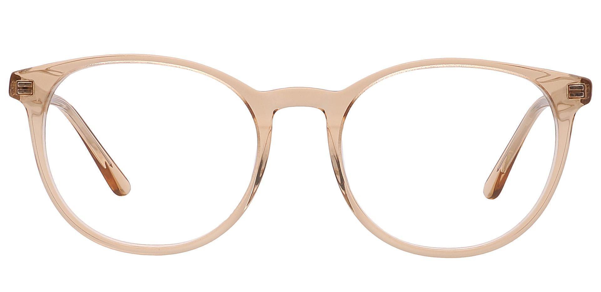 Driver Round Prescription Glasses - Light Topaz