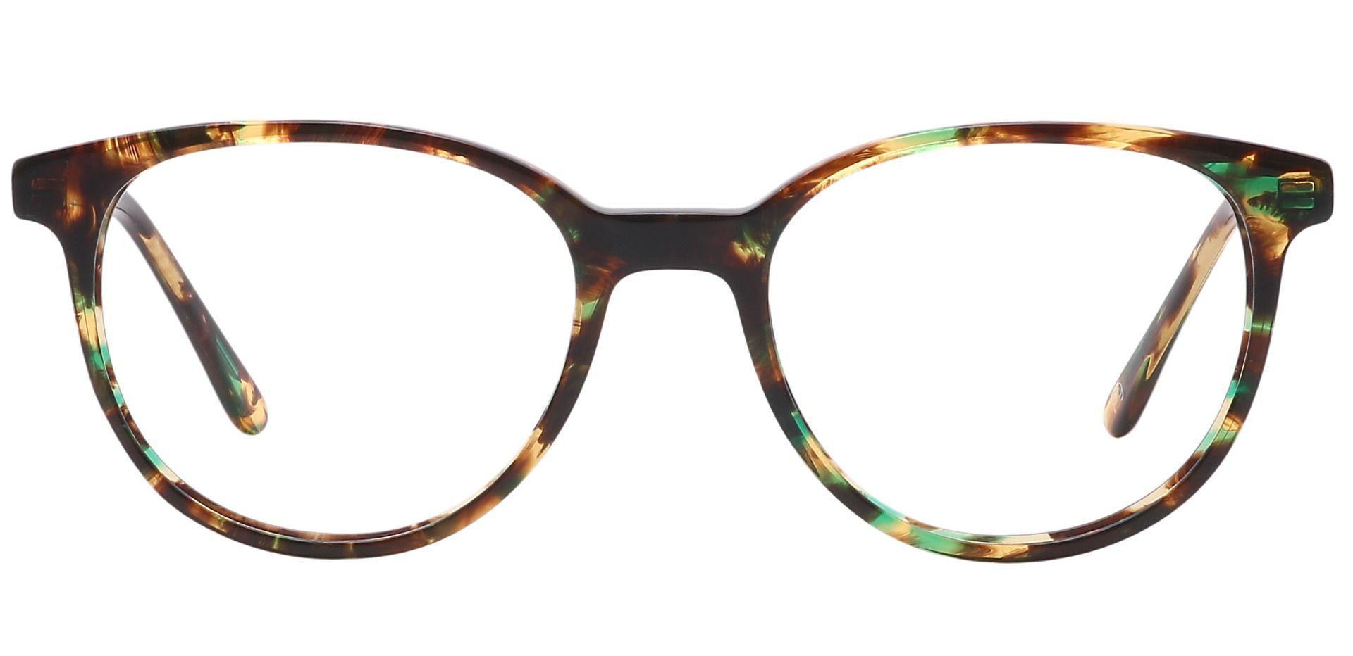 Java Round Prescription Glasses - Green