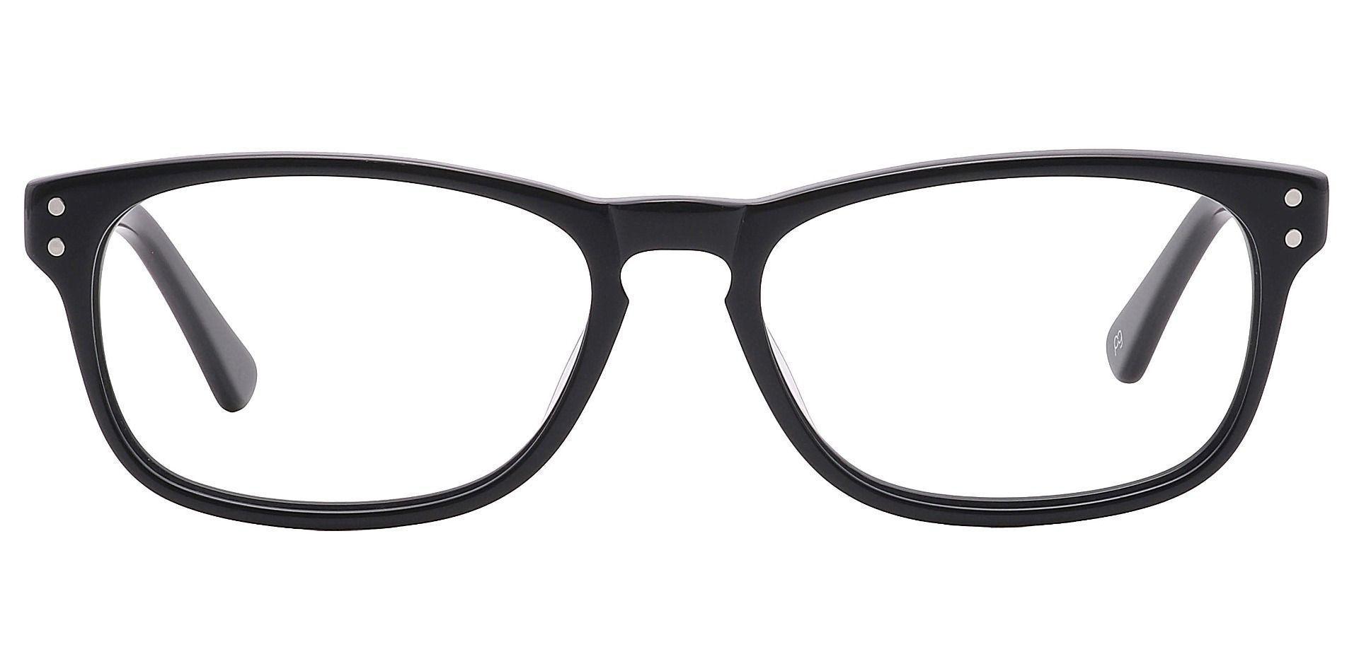 Morris Rectangle Progressive Glasses - Black