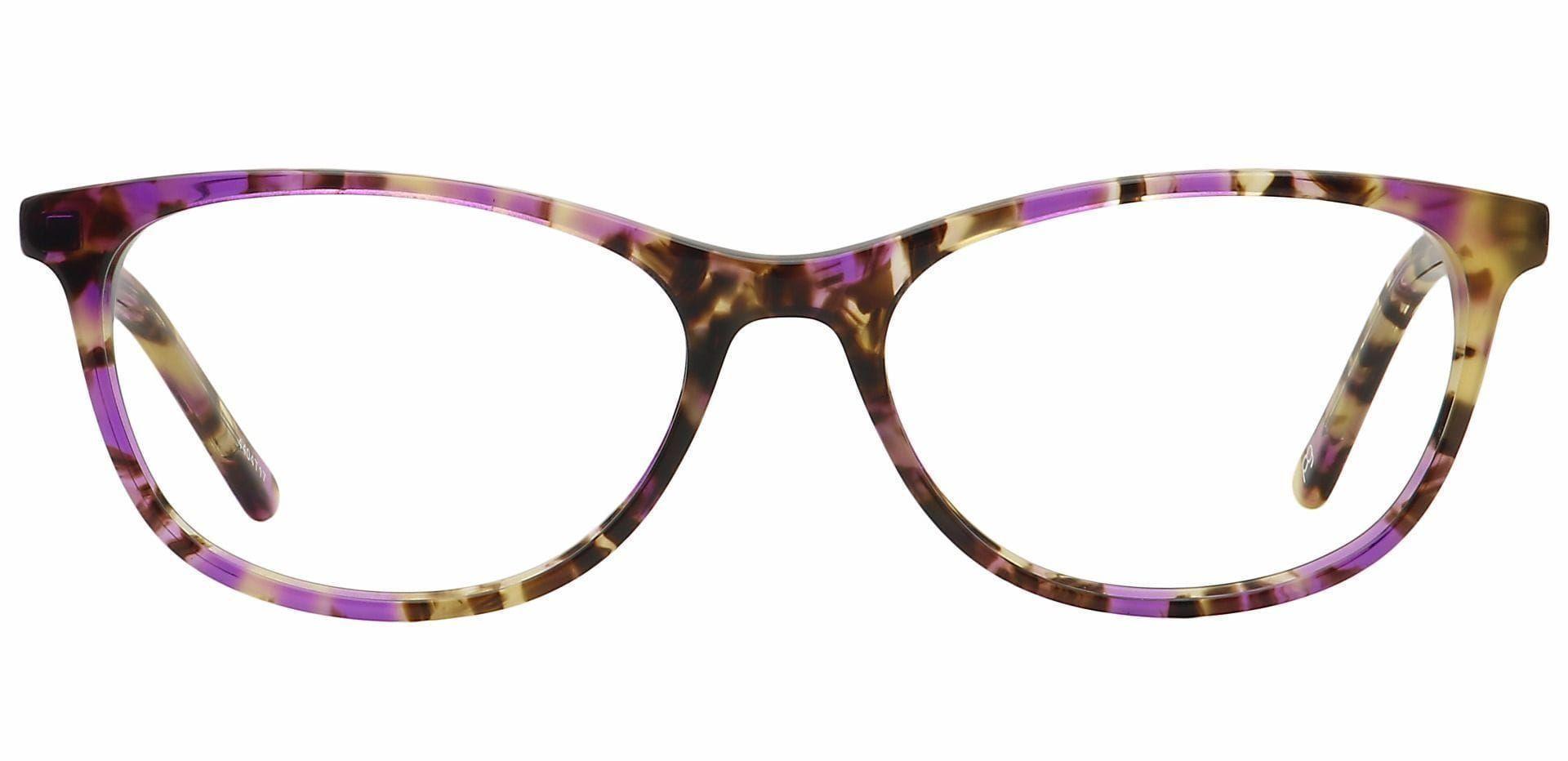 Freya Oval Prescription Glasses - Purple