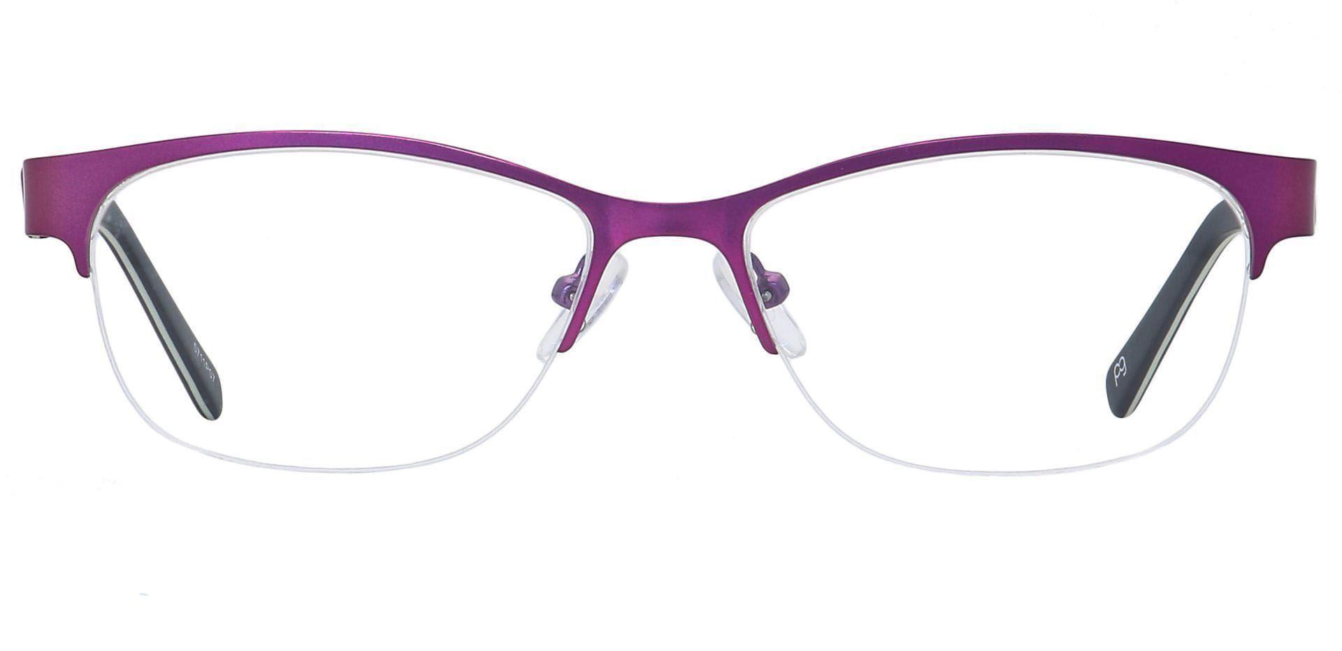 Nova Round Progressive Glasses - Purple