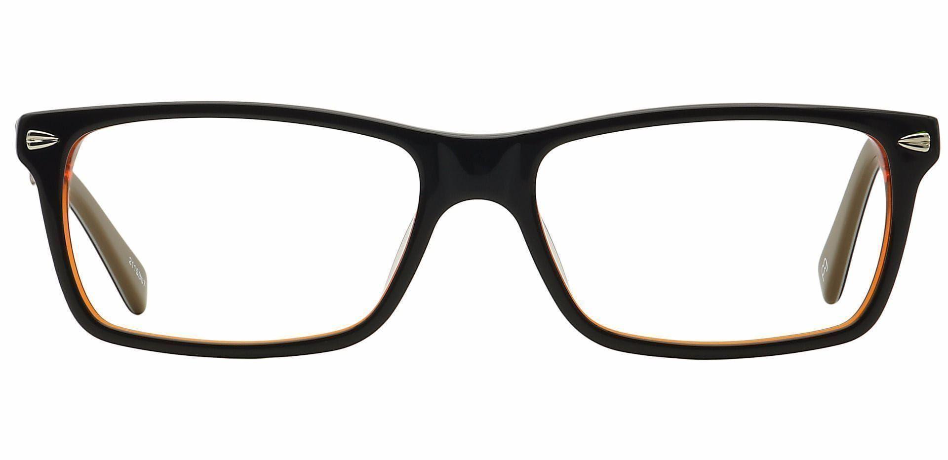 Oren Rectangle Prescription Glasses - Brown