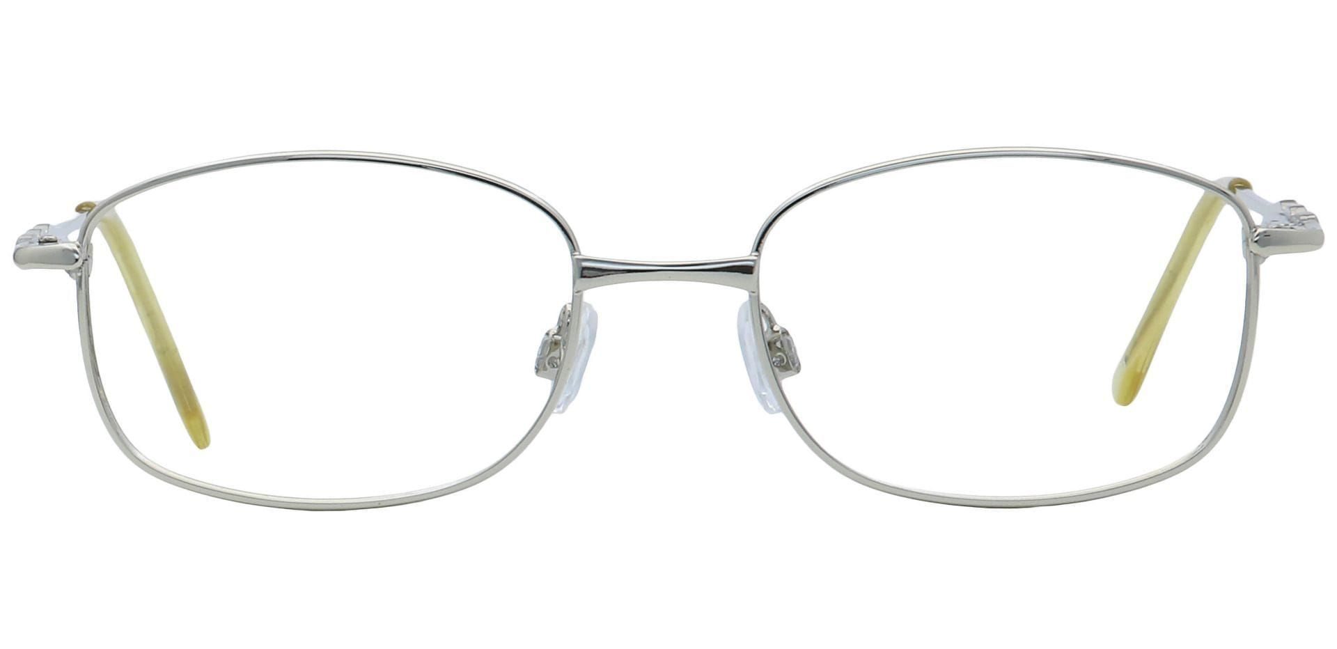 Halley Oval Reading Glasses - Silver