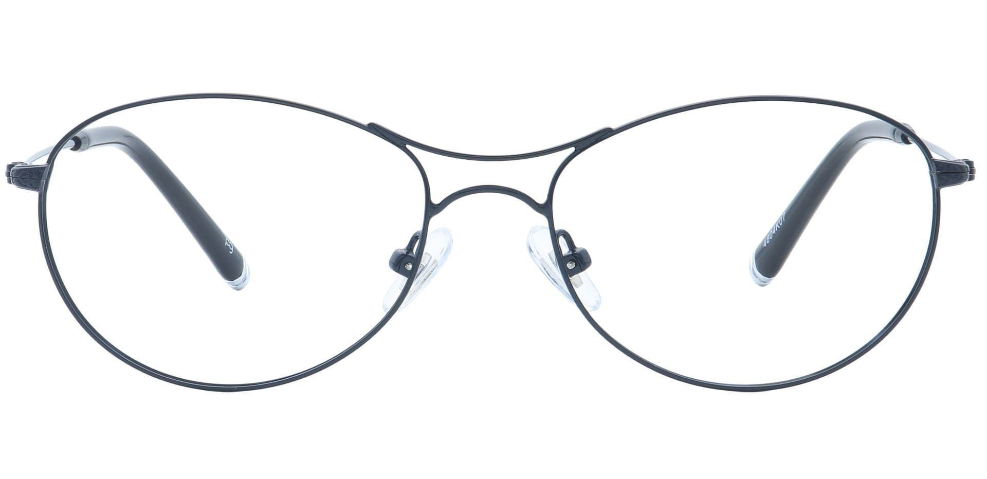Zadie Aviator Prescription Glasses - Black